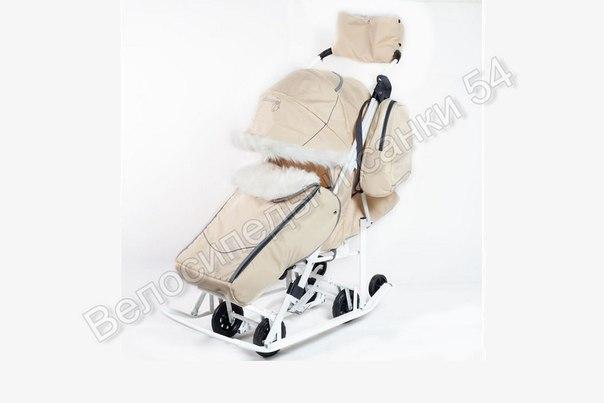 Санки-коляска Pikate Snowman бежевый