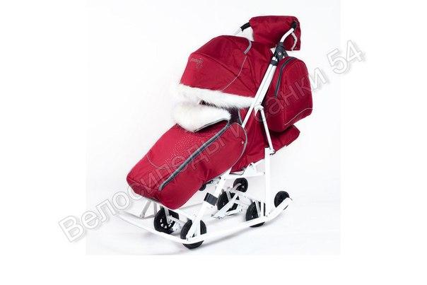 Санки-коляска Pikate Snowman красный