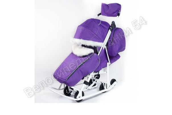 Санки-коляска Pikate Snowman фиолетовый