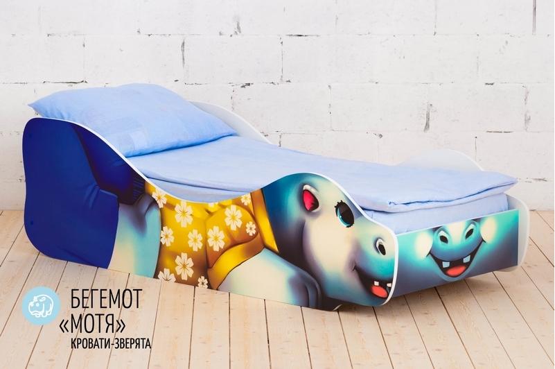 Детская кровать -Бегемот- Мотя-