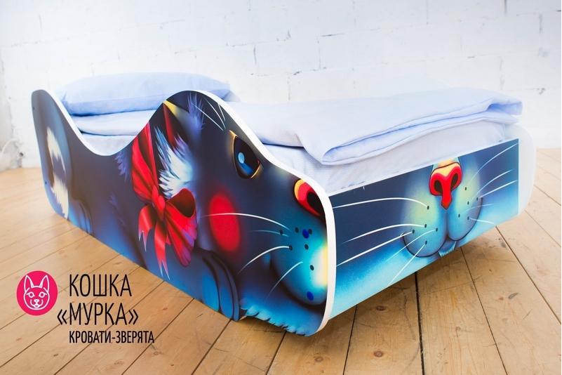 Детская кровать -Кошка - Мурка-