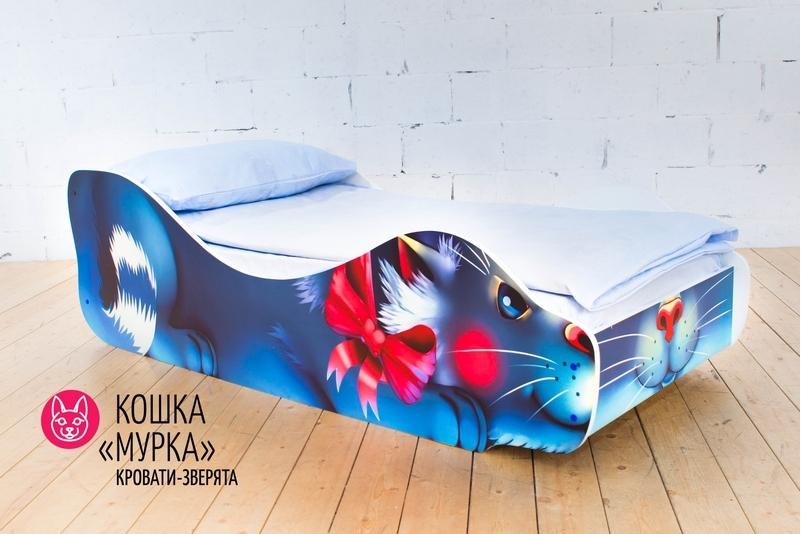 Детская кровать -Кошка -Мурка-