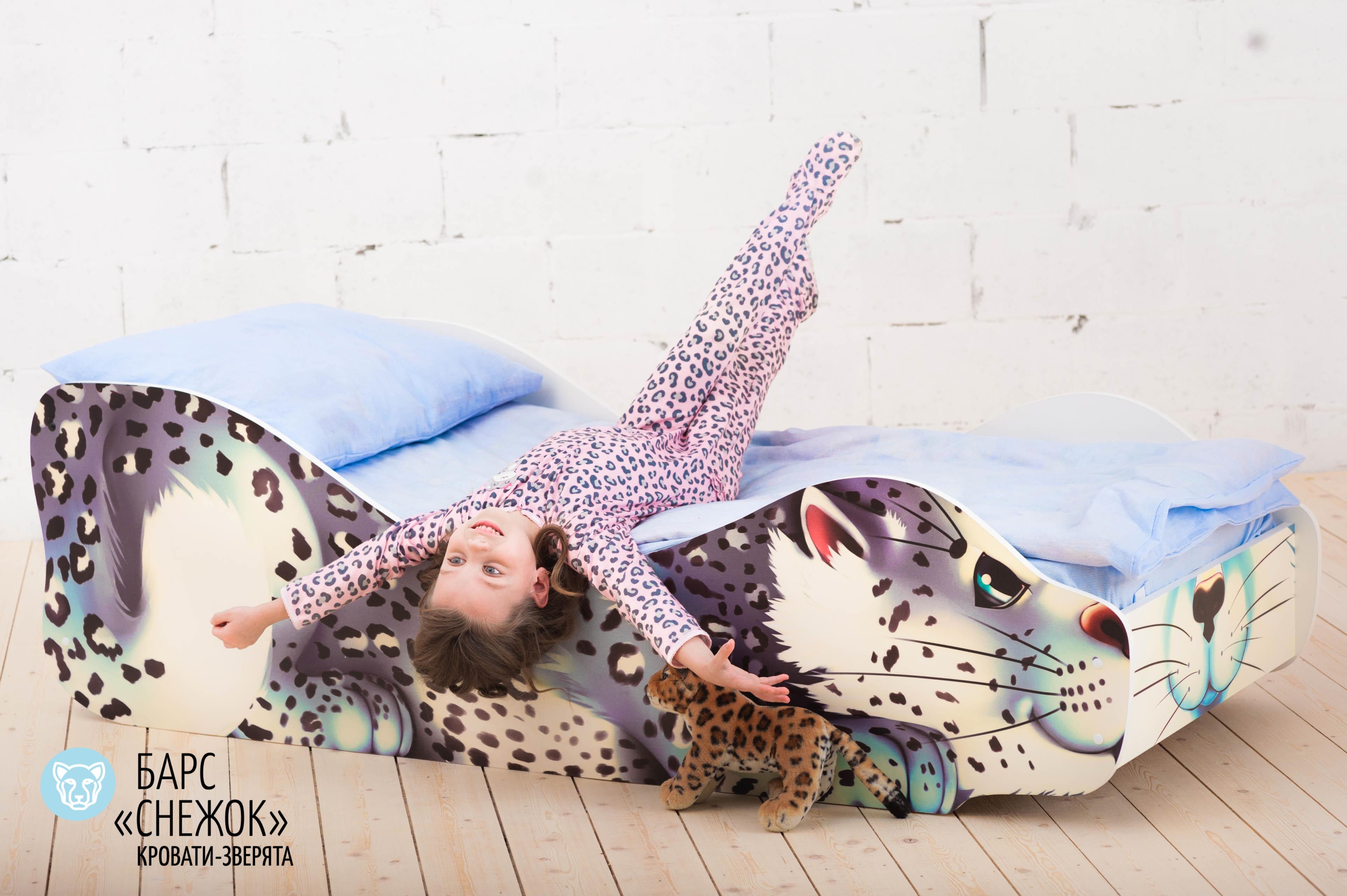 Детская кровать-зверенок -Барс-Снежок-13