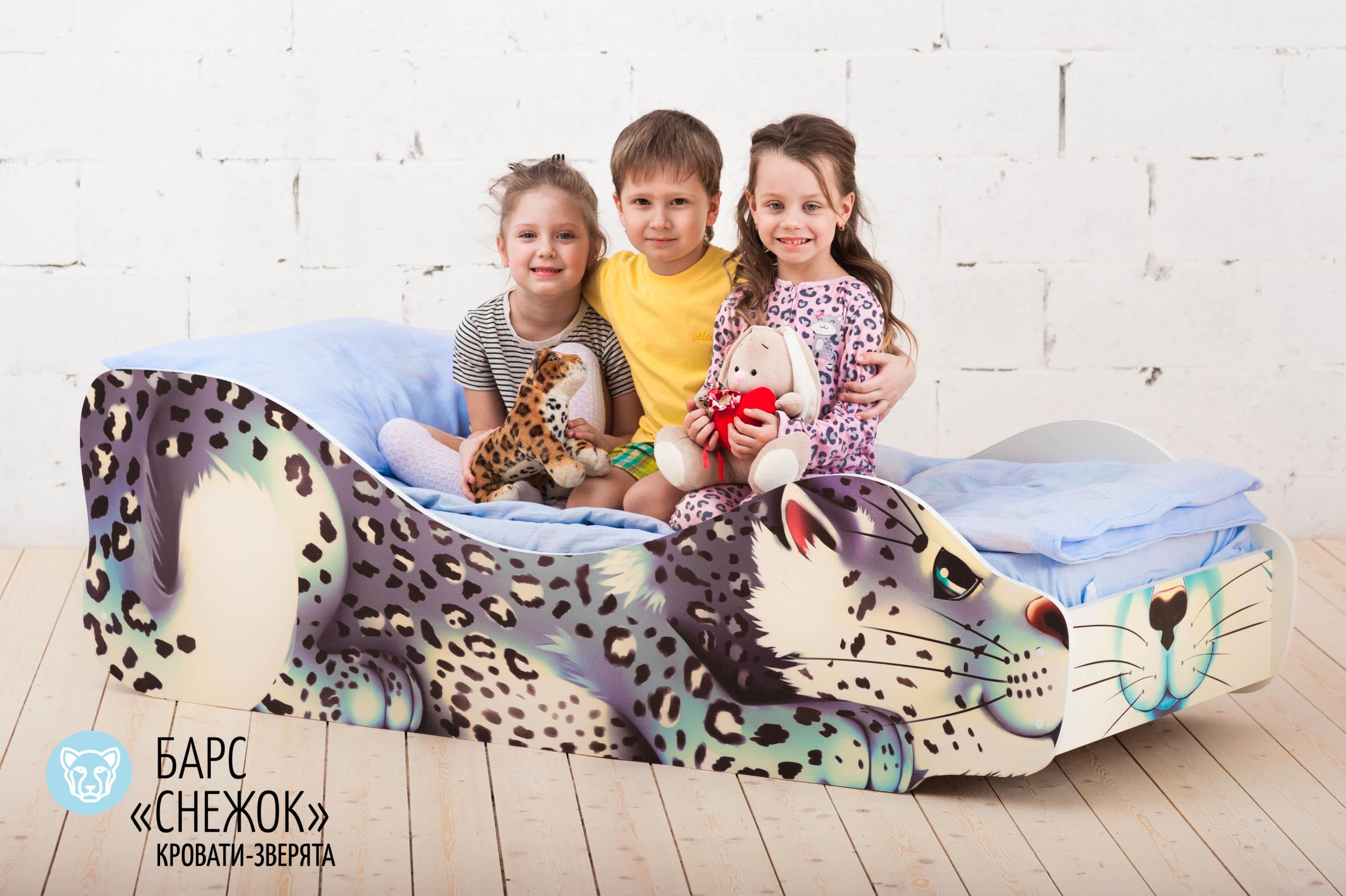 Детская кровать-зверенок -Барс-Снежок-17