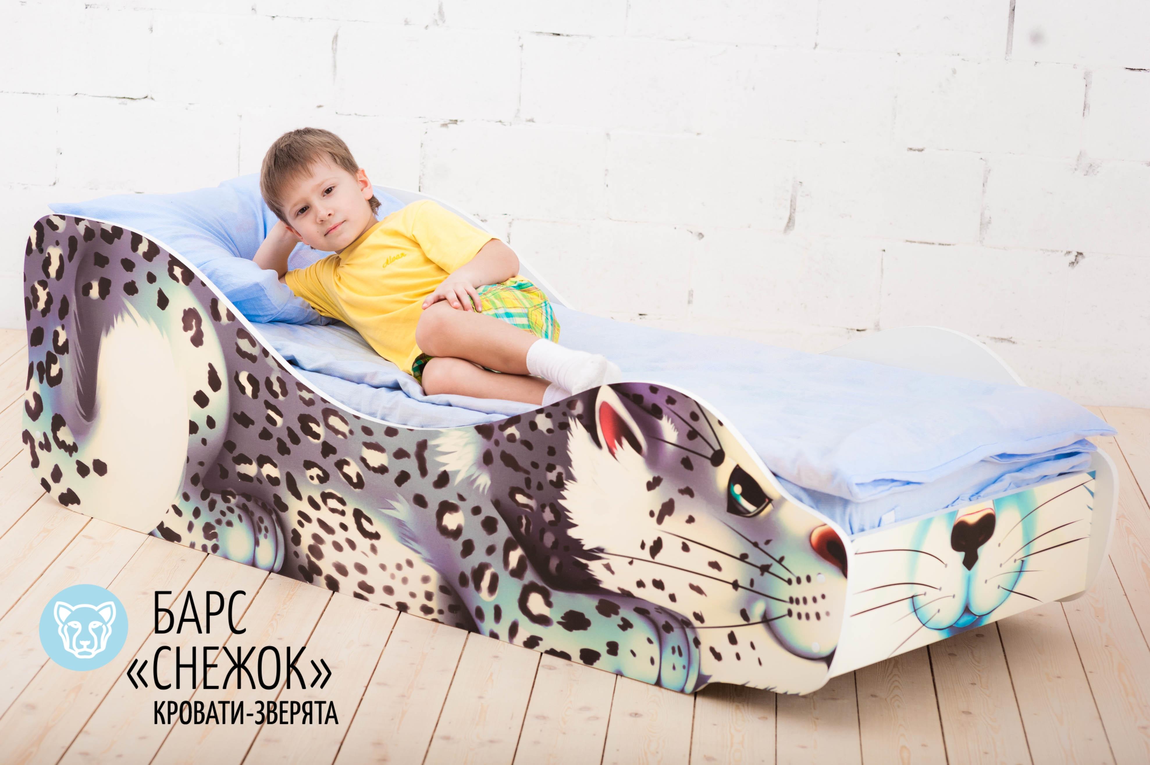 Детская кровать-зверенок -Барс-Снежок-21