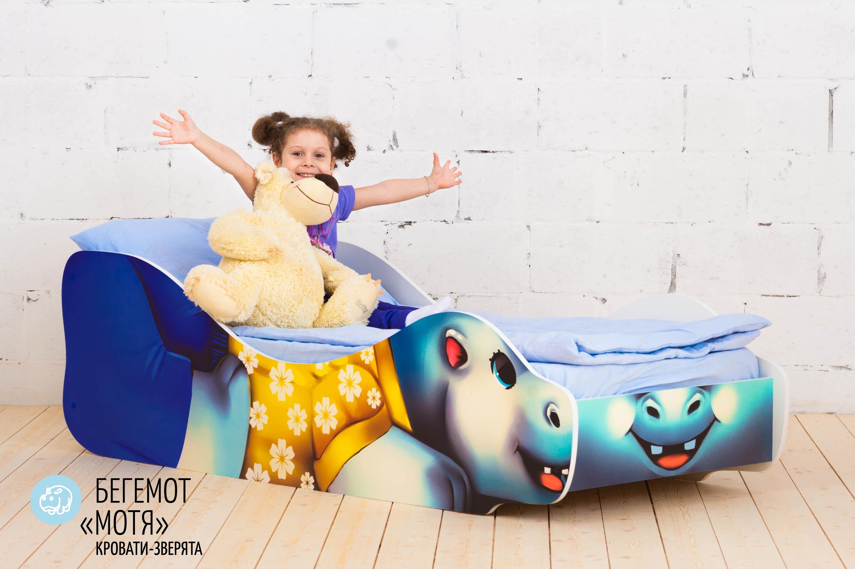 Детская кровать-зверенок -Бегемот-Мотя-12