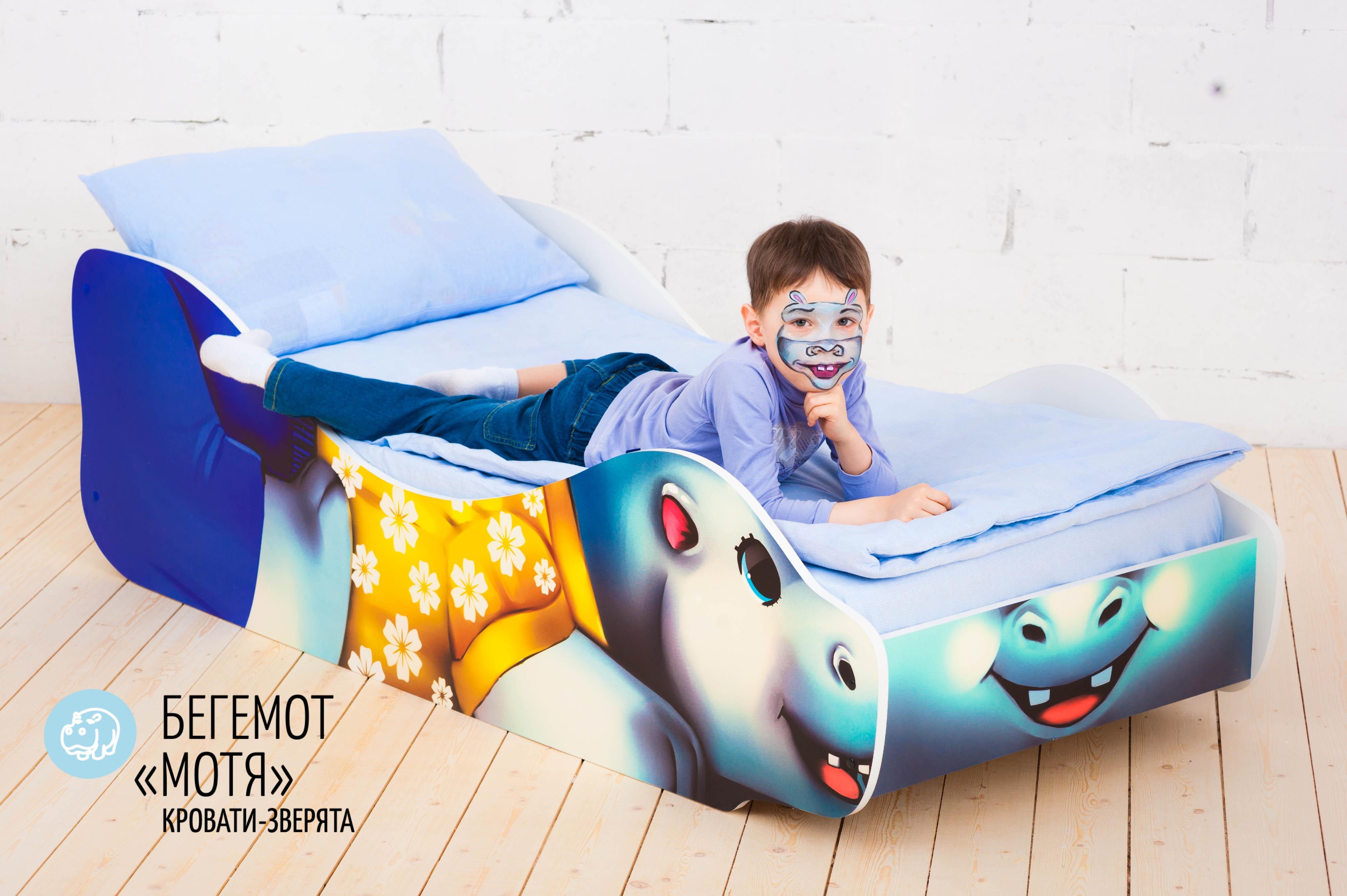 Детская кровать-зверенок -Бегемот-Мотя-16