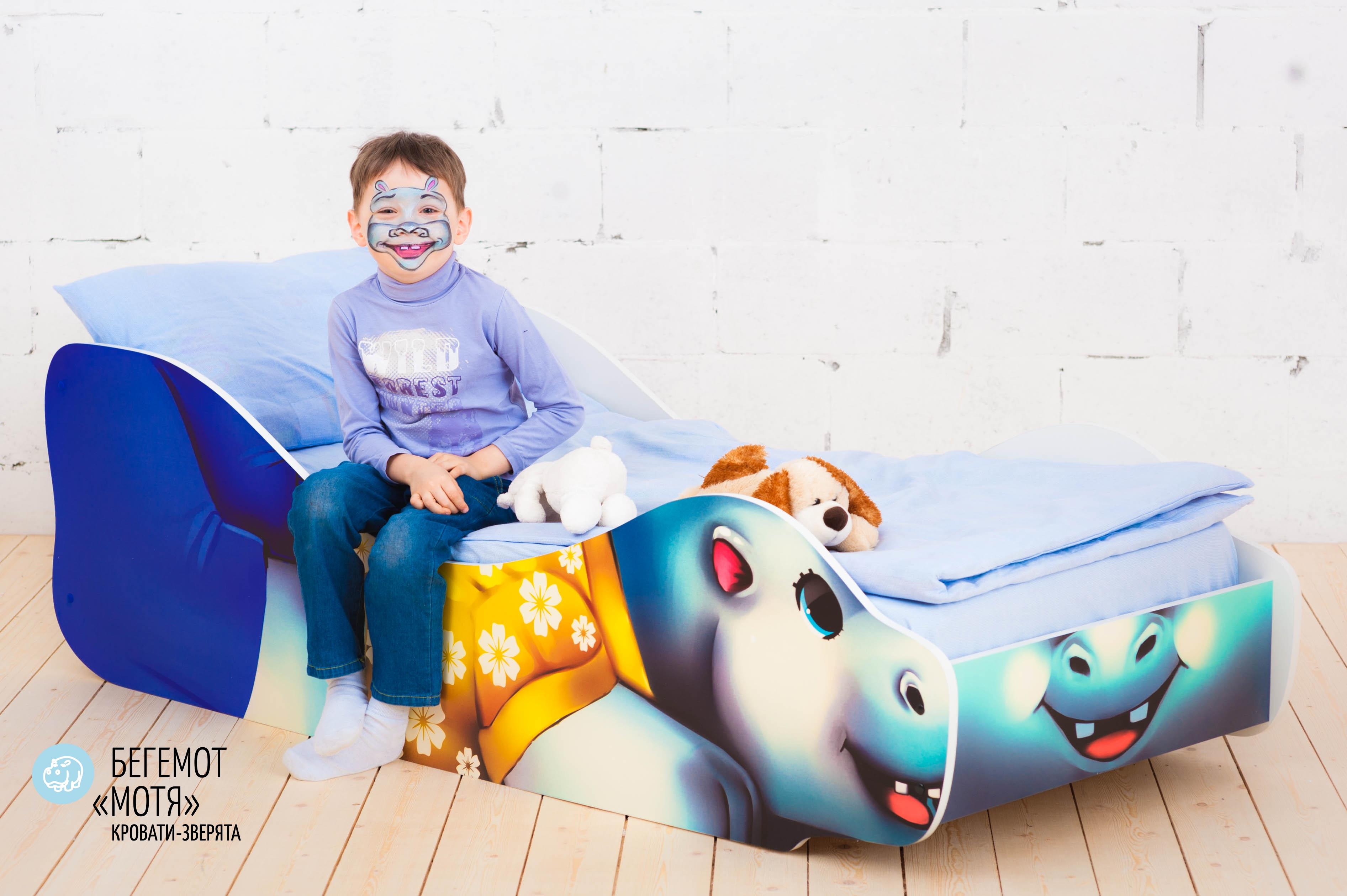 Детская кровать-зверенок -Бегемот-Мотя-19