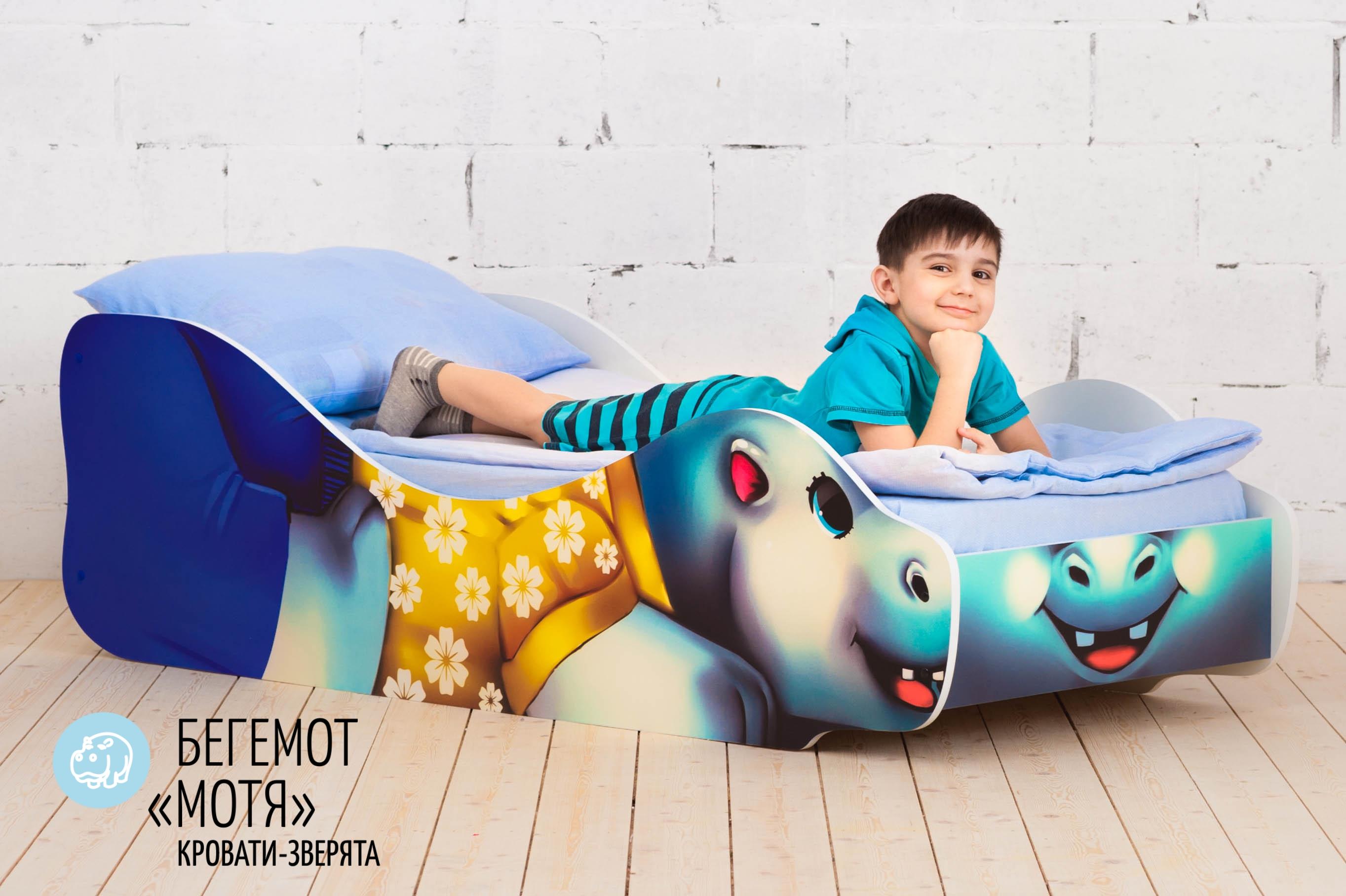 Детская кровать-зверенок -Бегемот-Мотя-2
