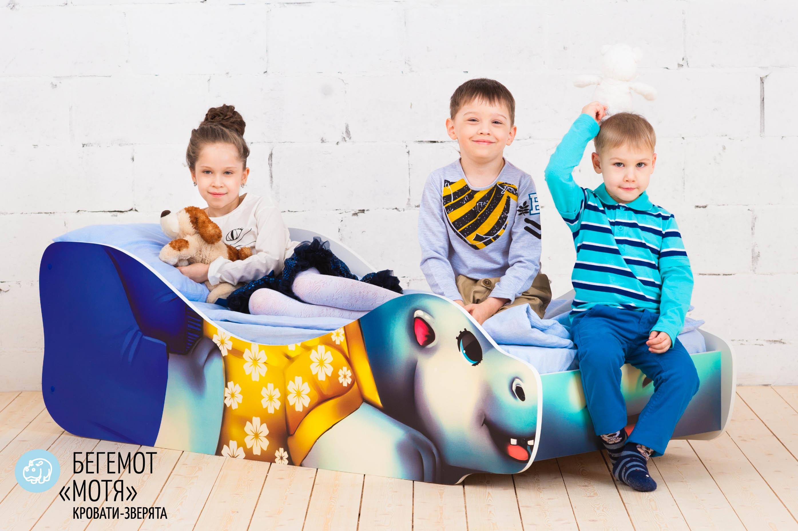 Детская кровать-зверенок -Бегемот-Мотя-7