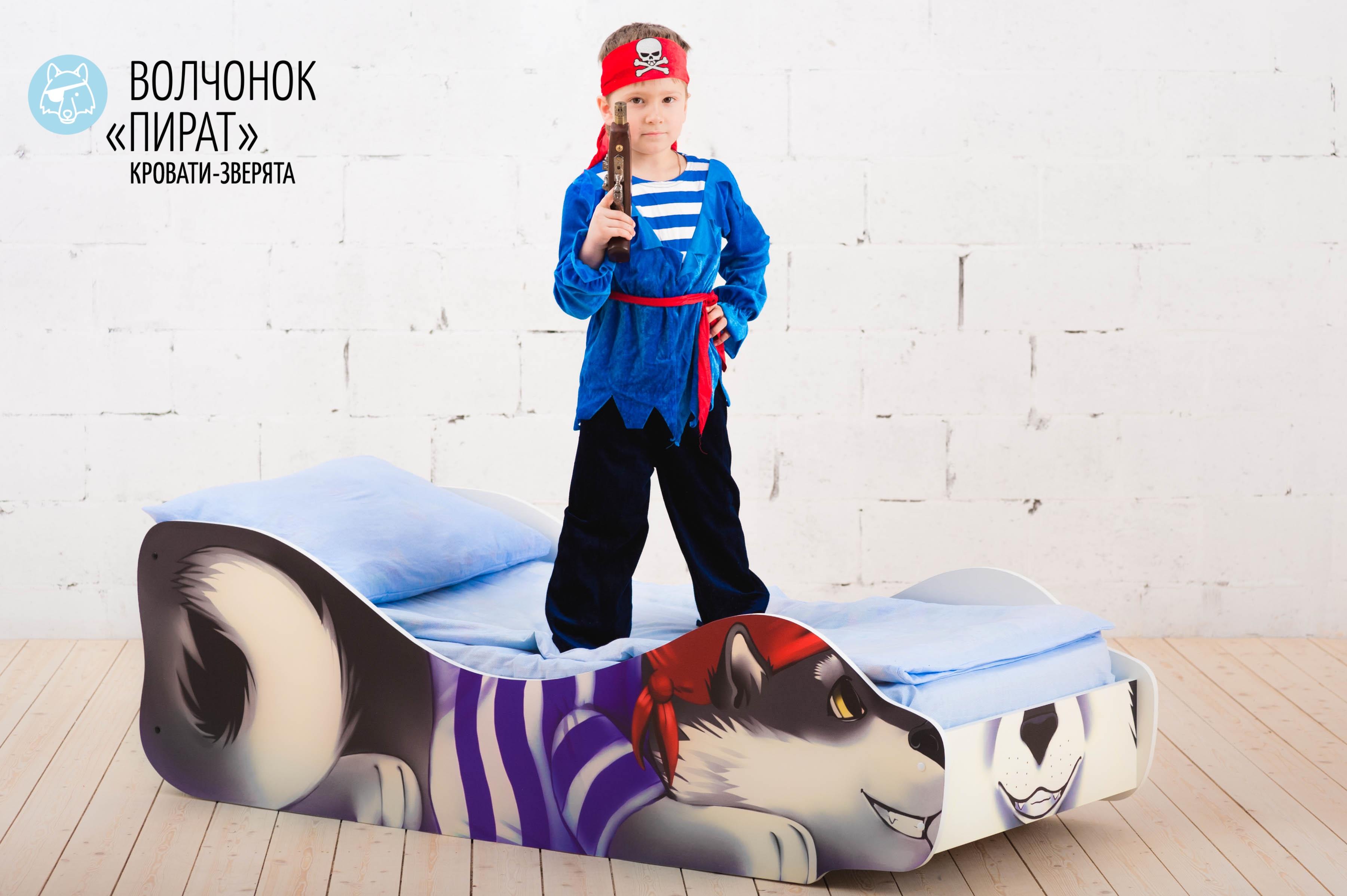 Детская кровать-зверенок -Волчонок-Пират-11