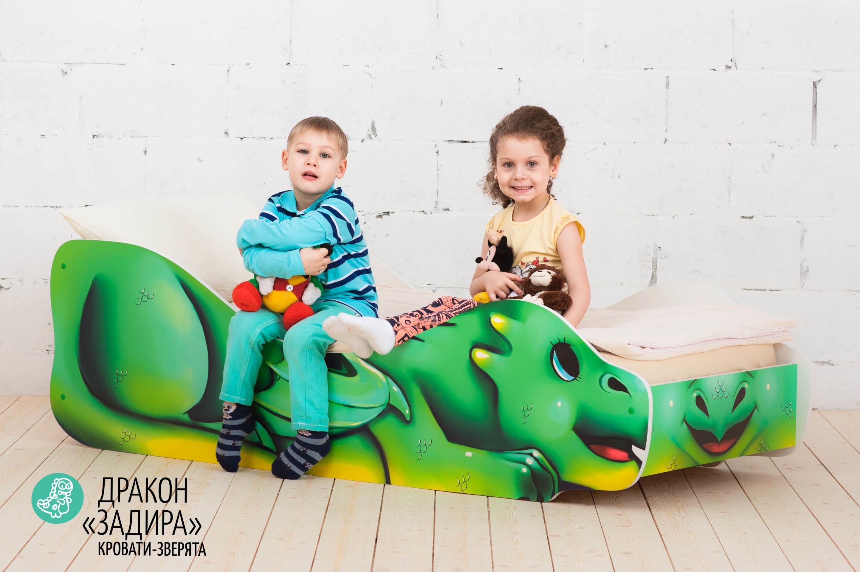 Детская кровать-зверенок -Дракон-Задира-2