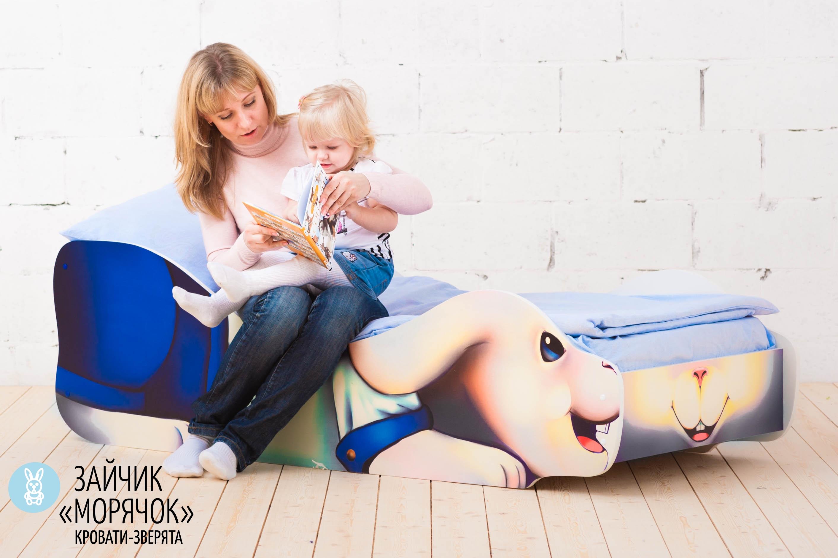 Детская кровать-зверенок -Заяц-Морячок-10