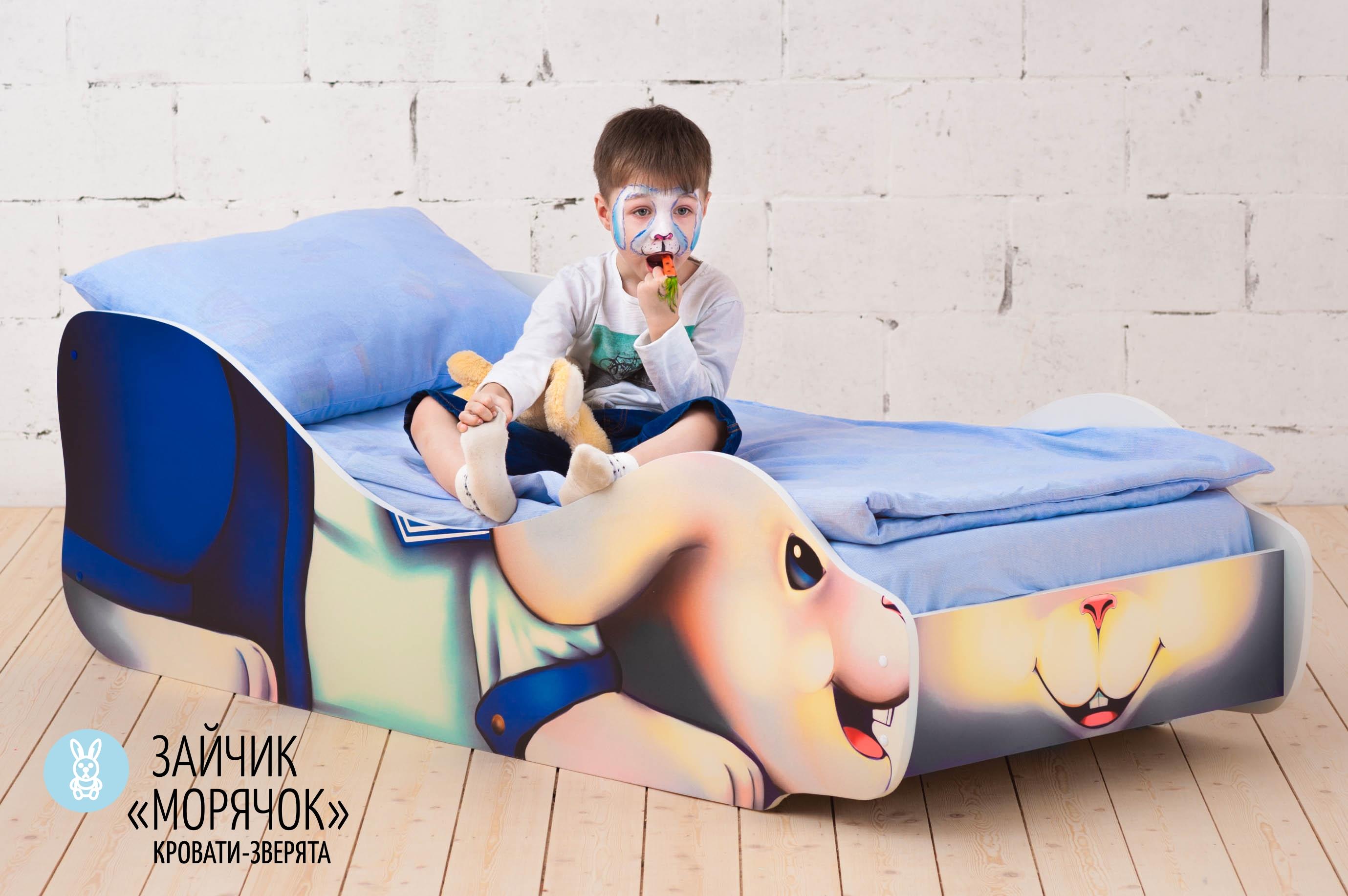 Детская кровать-зверенок -Заяц-Морячок-15