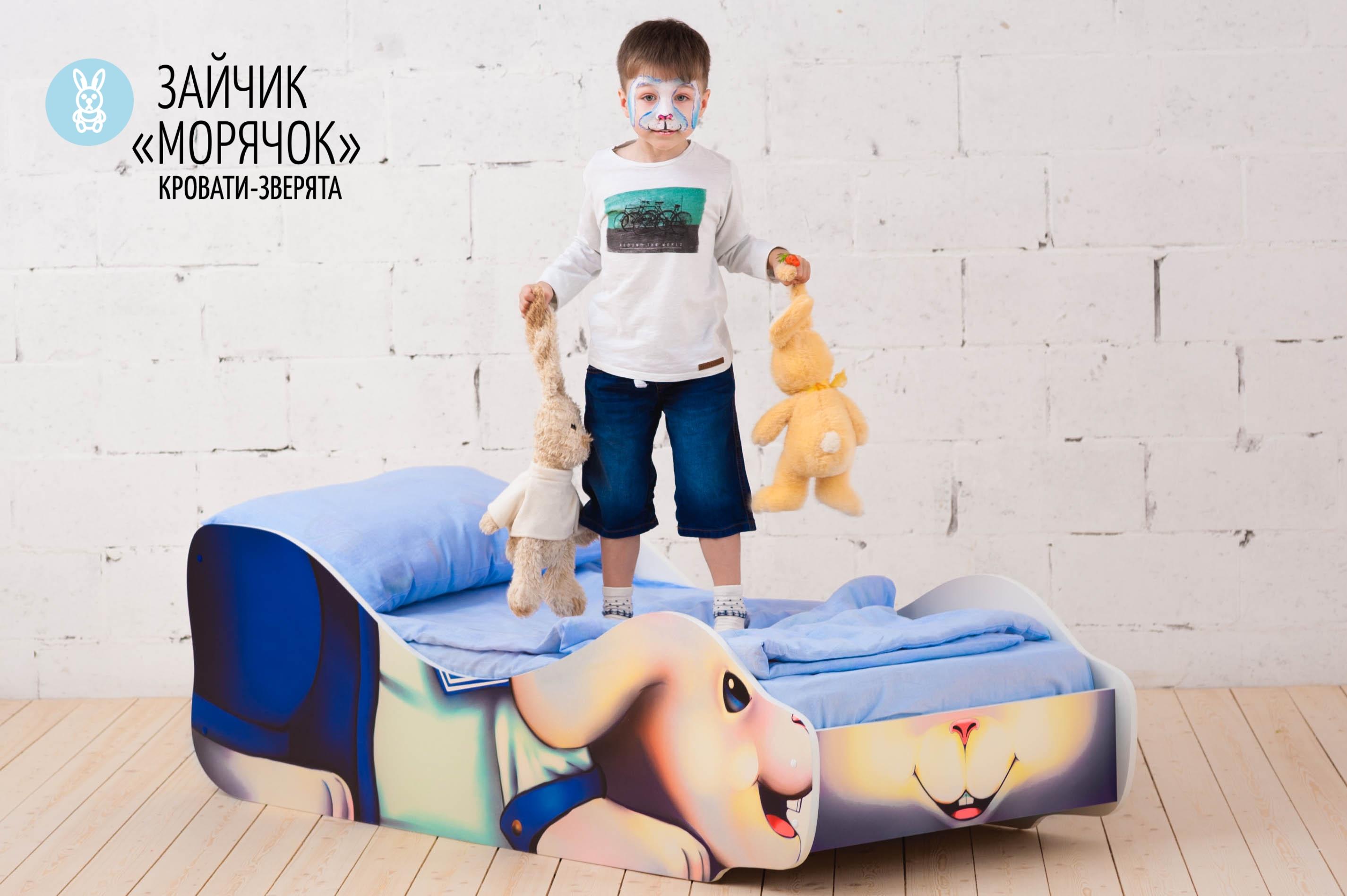 Детская кровать-зверенок -Заяц-Морячок-18