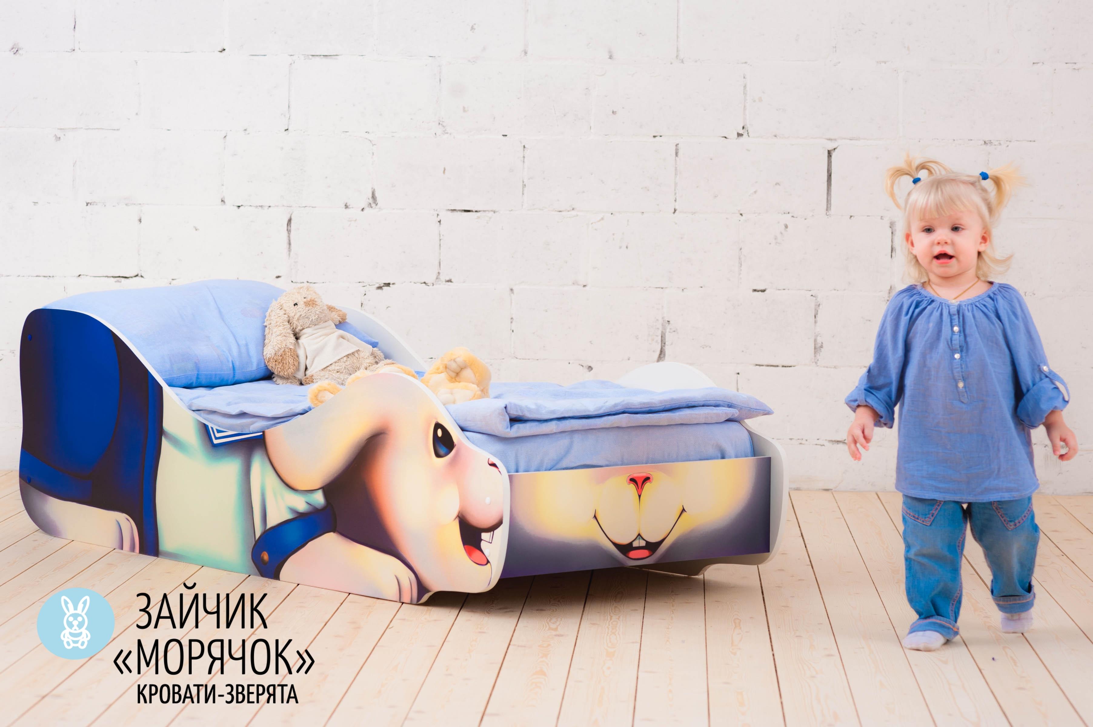 Детская кровать-зверенок -Заяц-Морячок-19