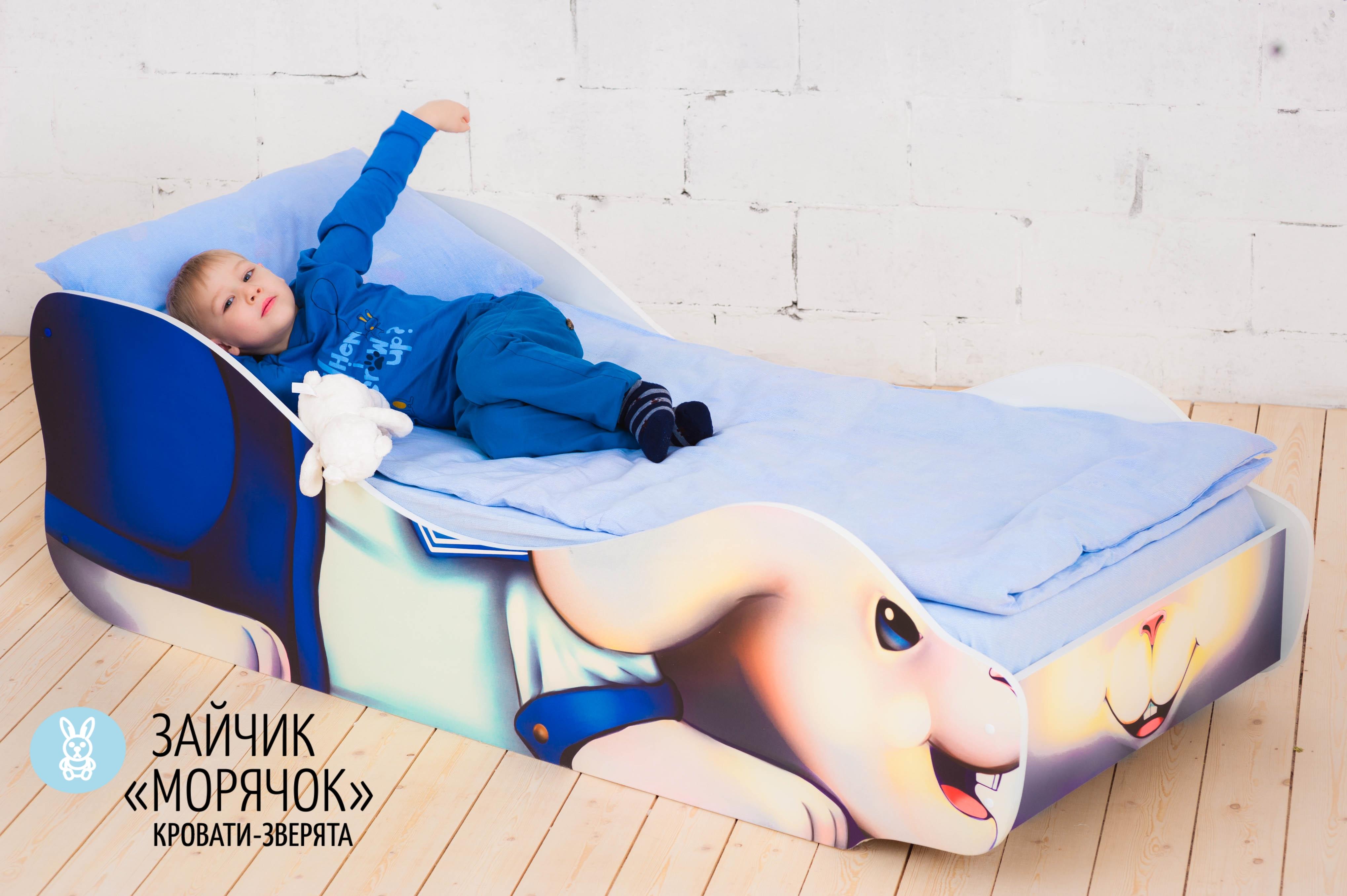 Детская кровать-зверенок -Заяц-Морячок-22