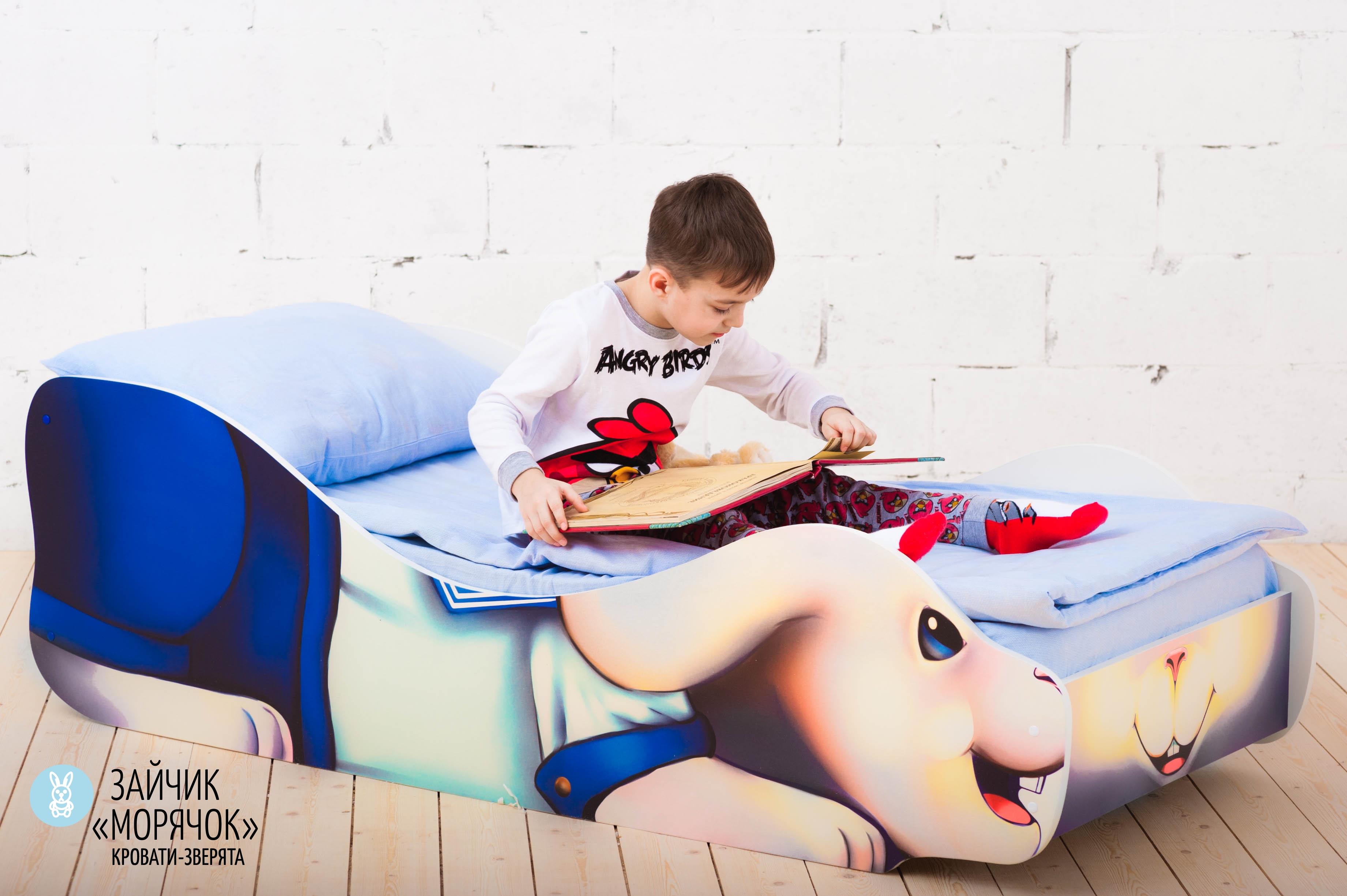Детская кровать-зверенок -Заяц-Морячок-3