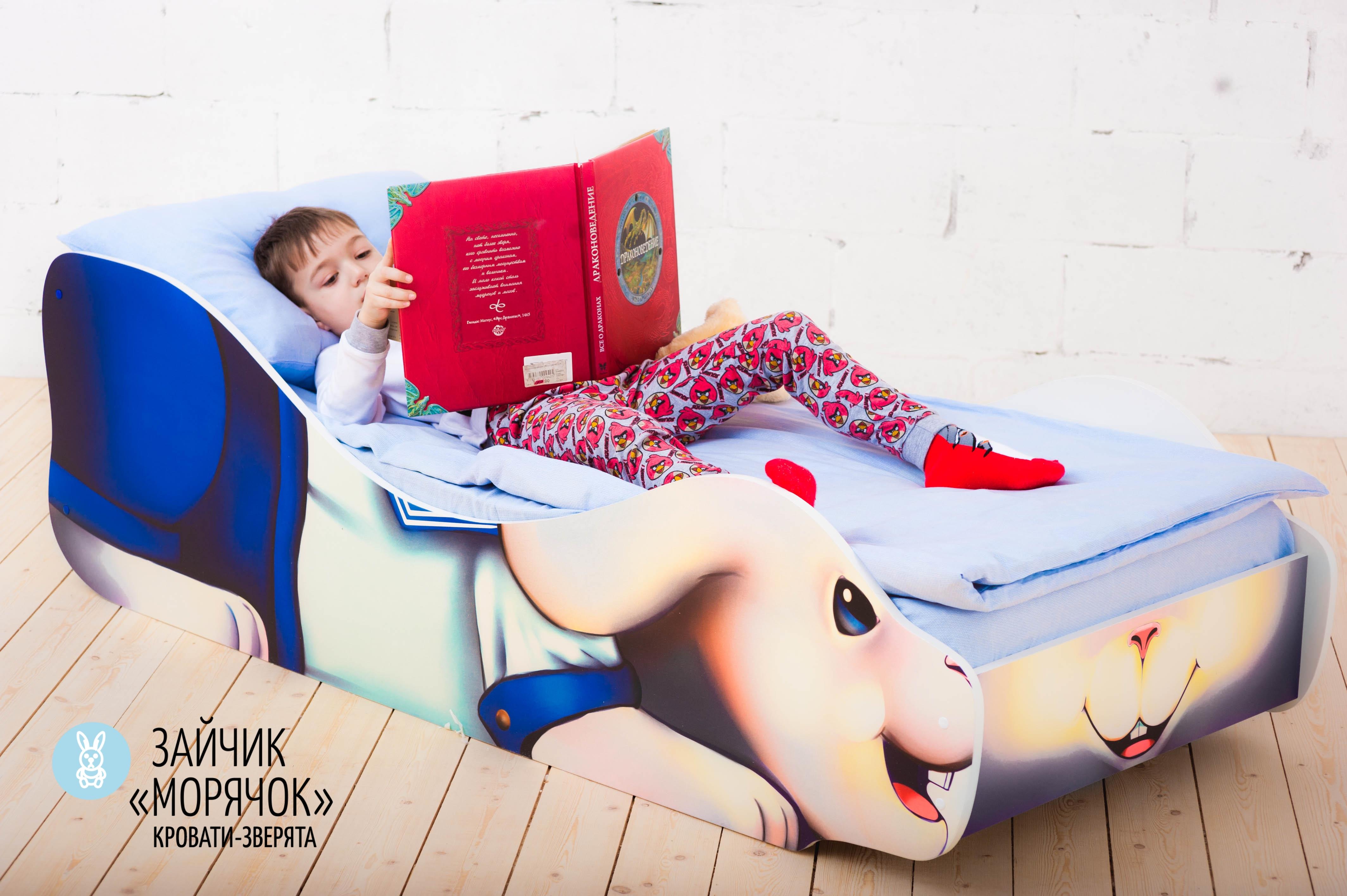 Детская кровать-зверенок -Заяц-Морячок-5