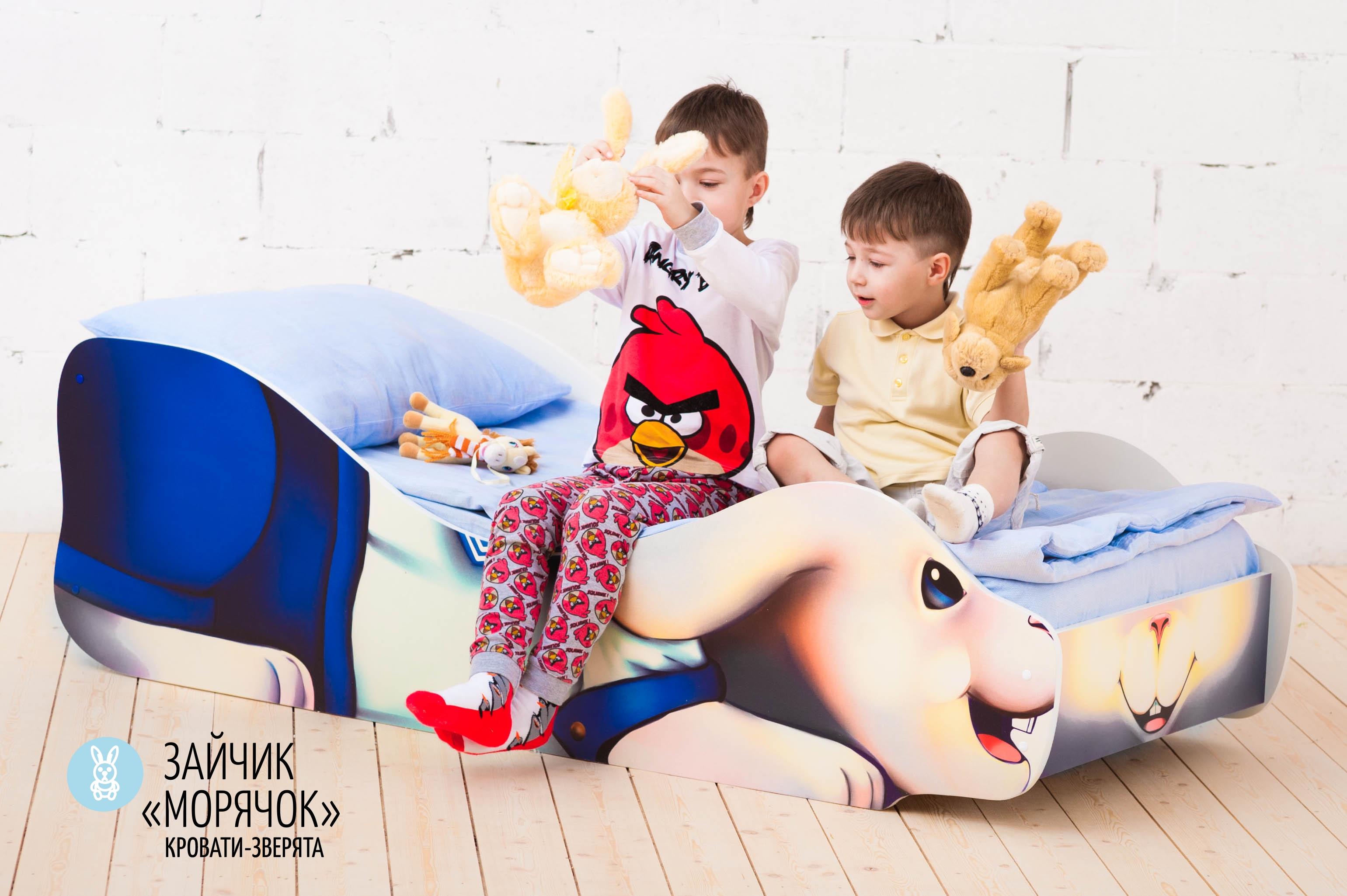 Детская кровать-зверенок -Заяц-Морячок-7
