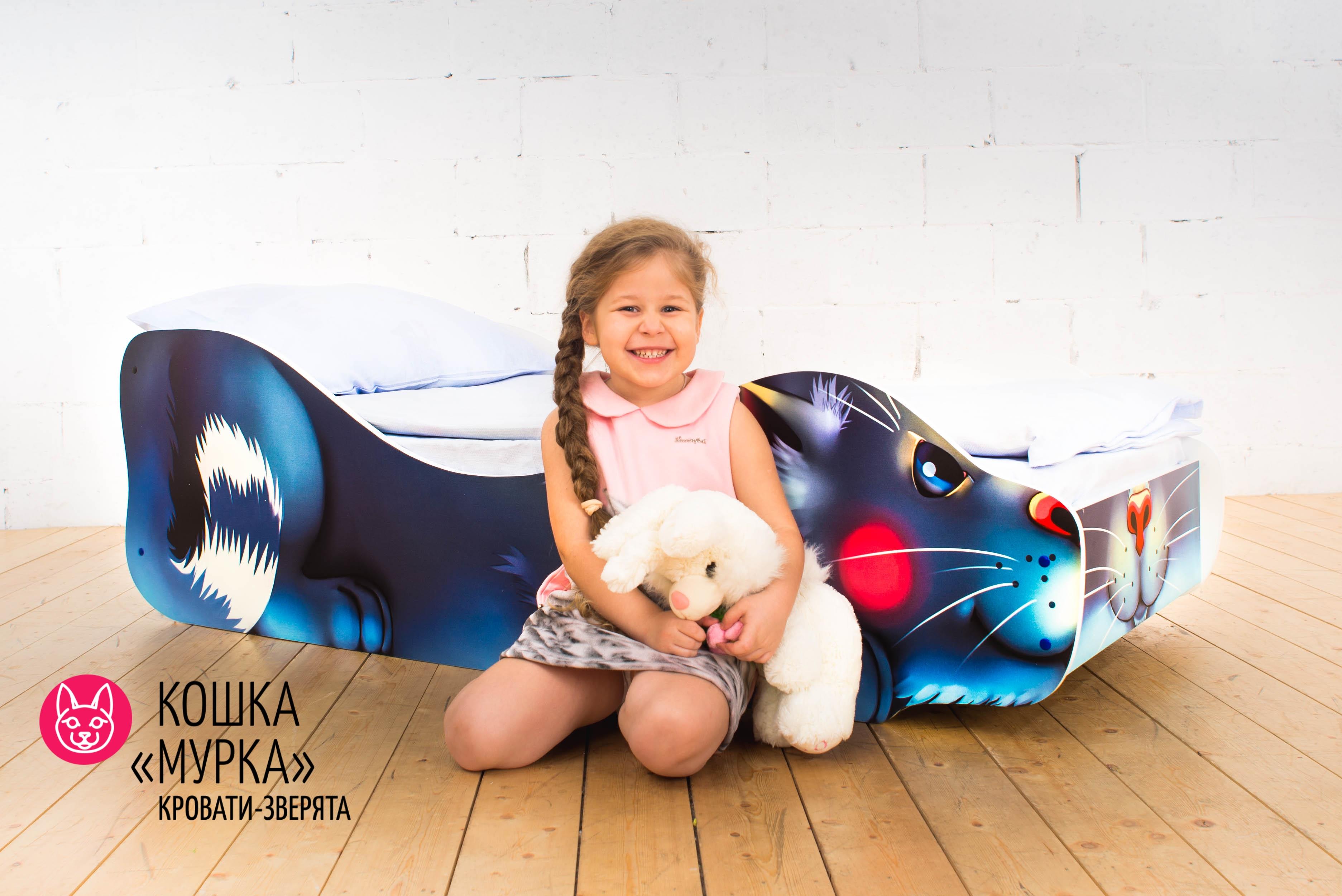 Детская кровать-зверенок -Кошка-Мурка-1