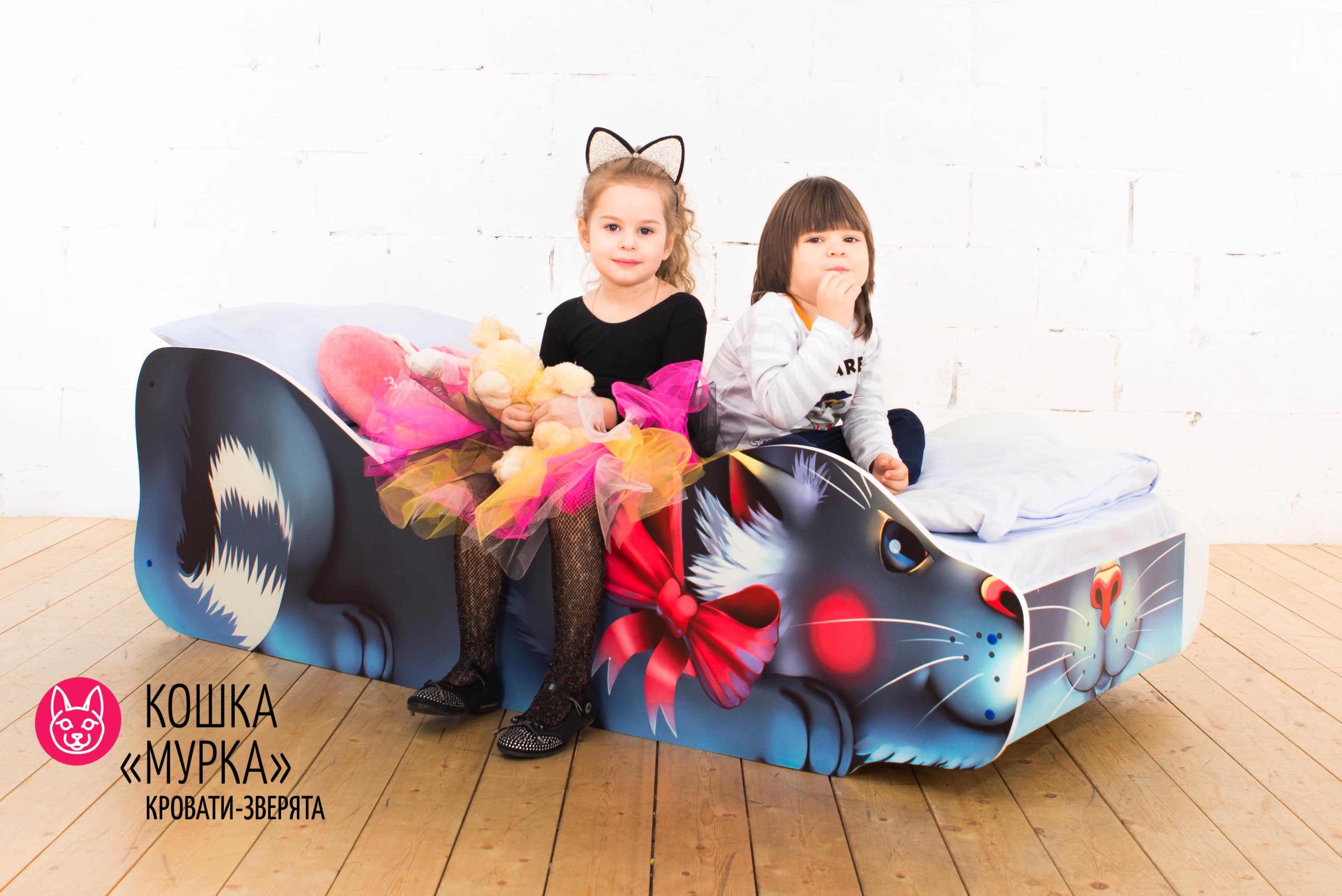 Детская кровать-зверенок -Кошка-Мурка-2