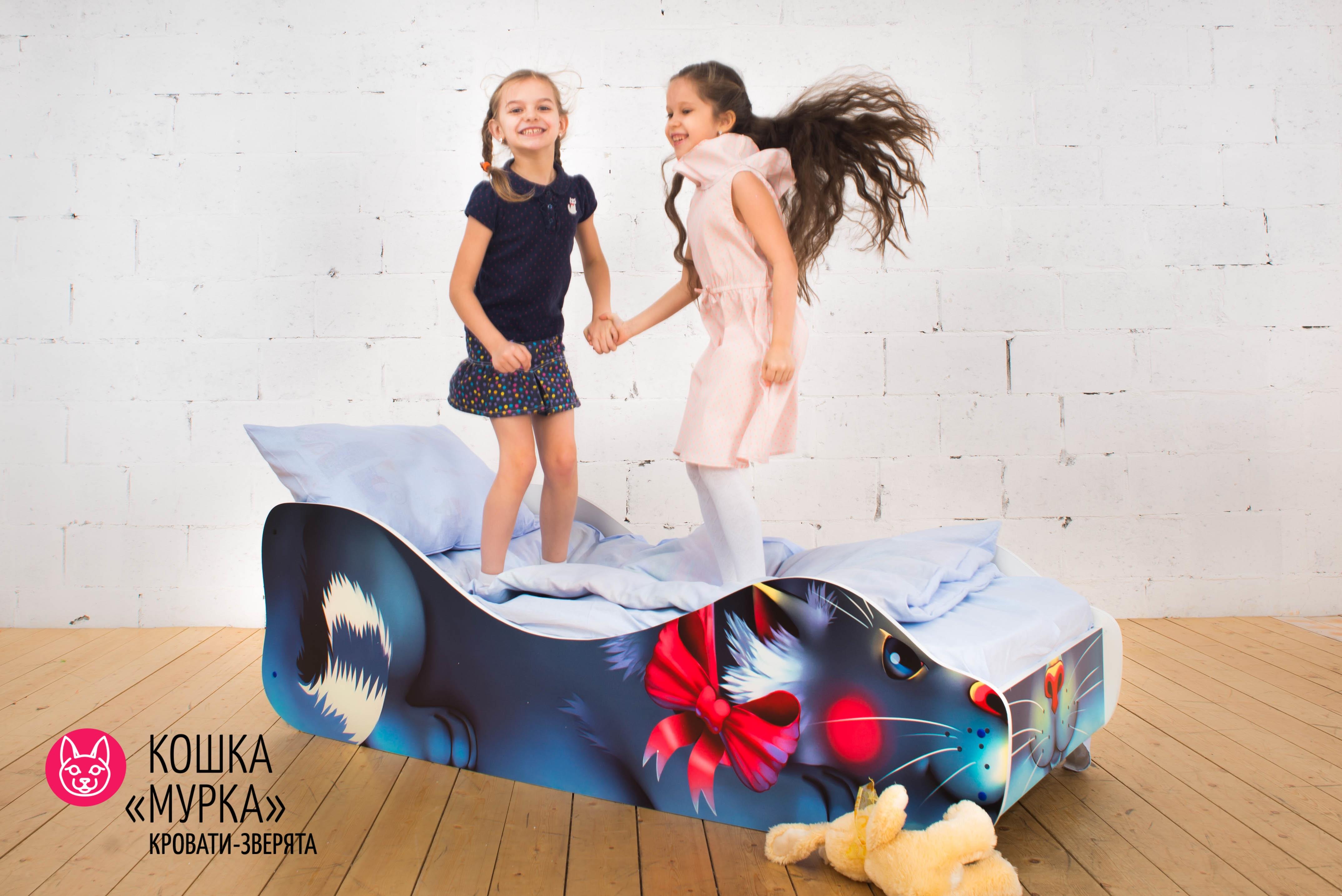 Детская кровать-зверенок -Кошка-Мурка-5