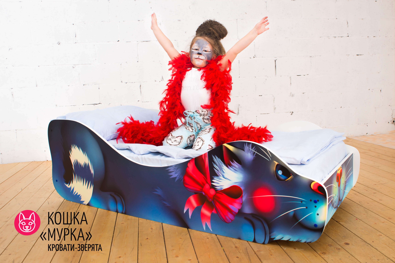 Детская кровать-зверенок -Кошка-Мурка-6