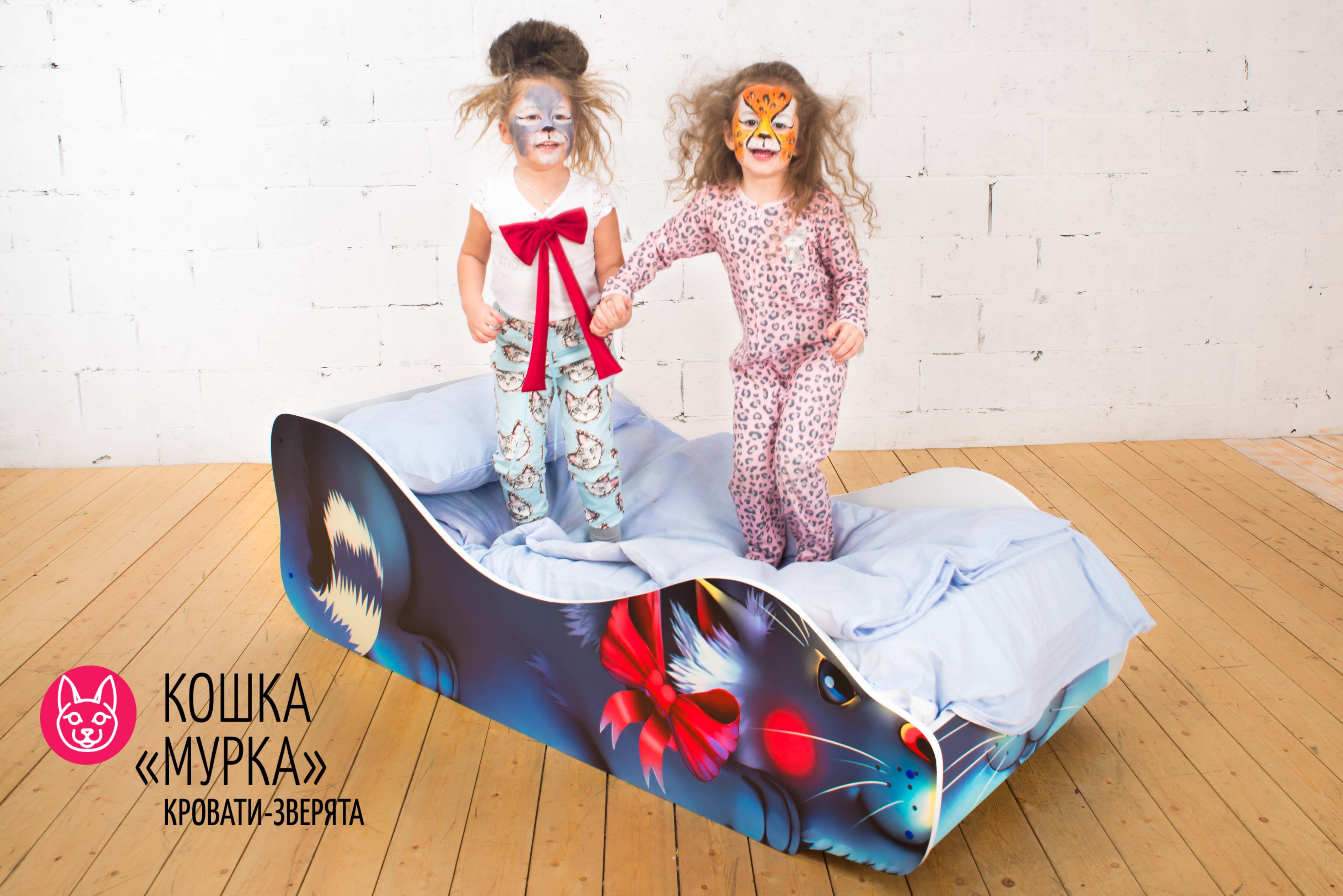 Детская кровать-зверенок -Кошка-Мурка-8