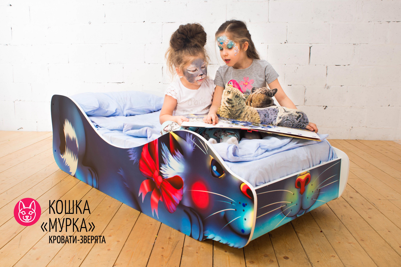 Детская кровать-зверенок -Кошка-Мурка-9