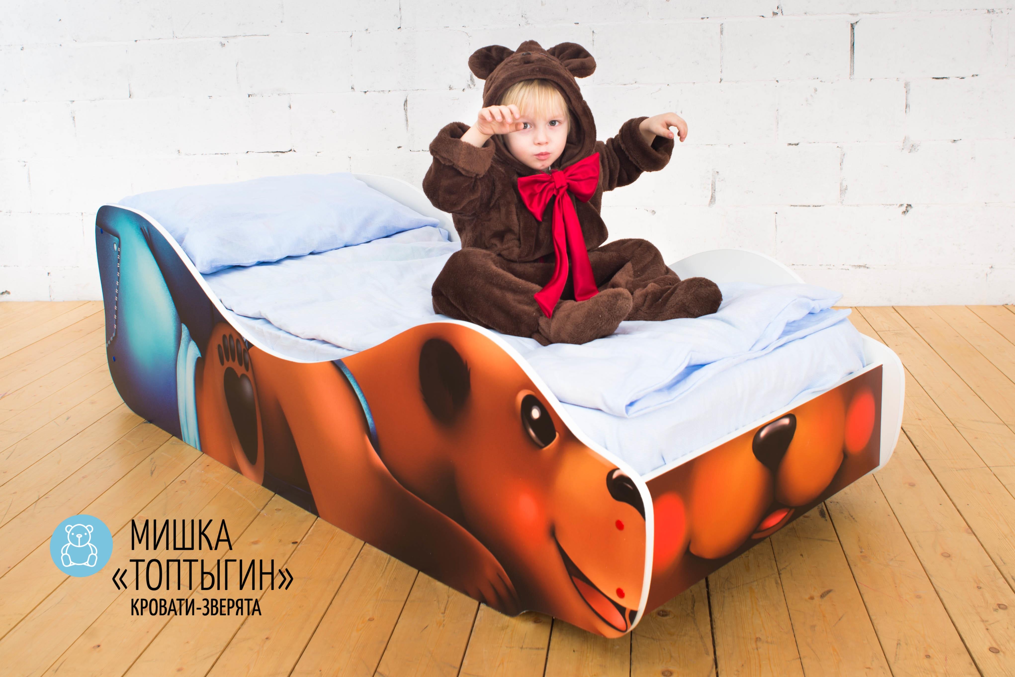 Детская кровать-зверенок -Мишка-Топтыгин-11