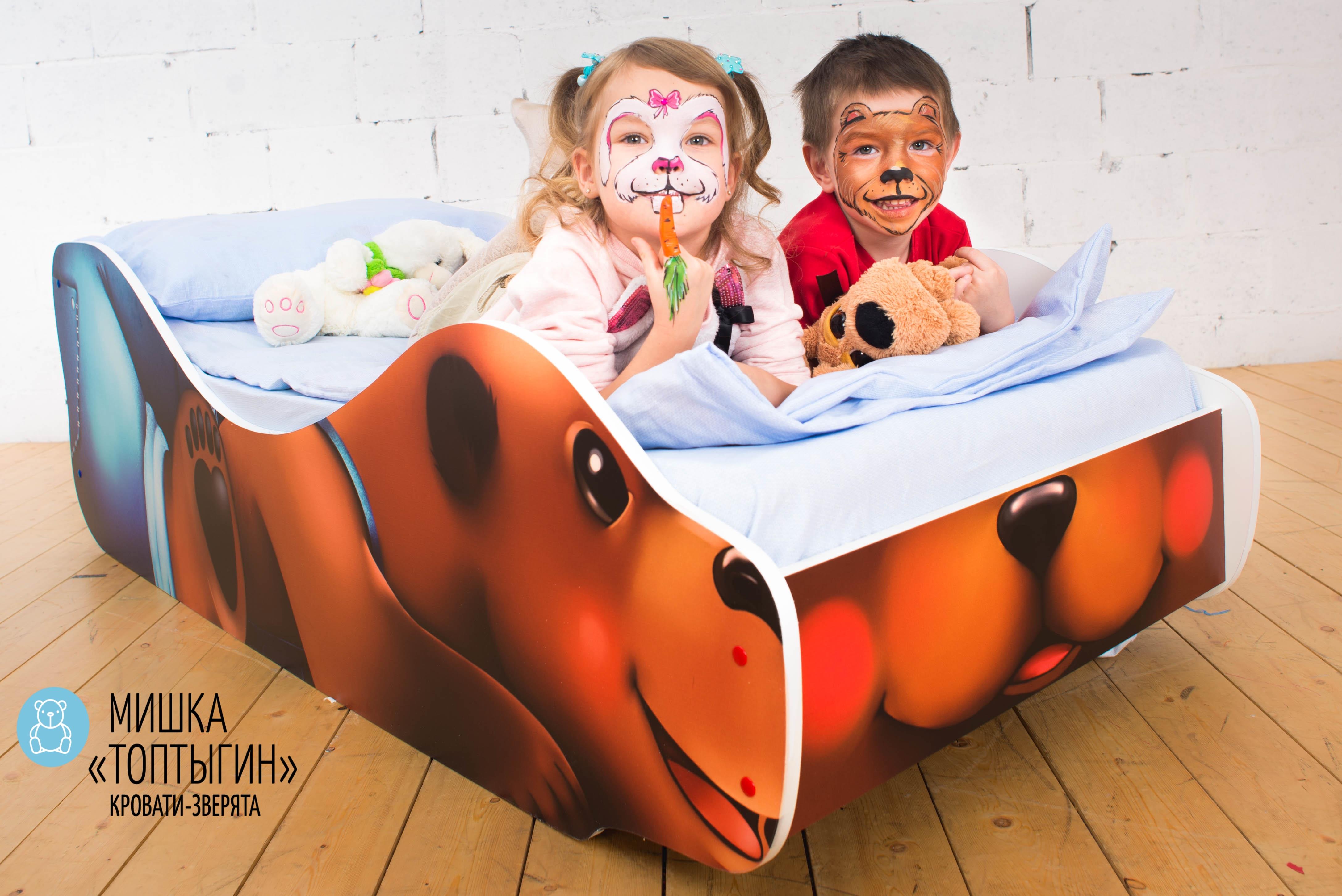 Детская кровать-зверенок -Мишка-Топтыгин-16
