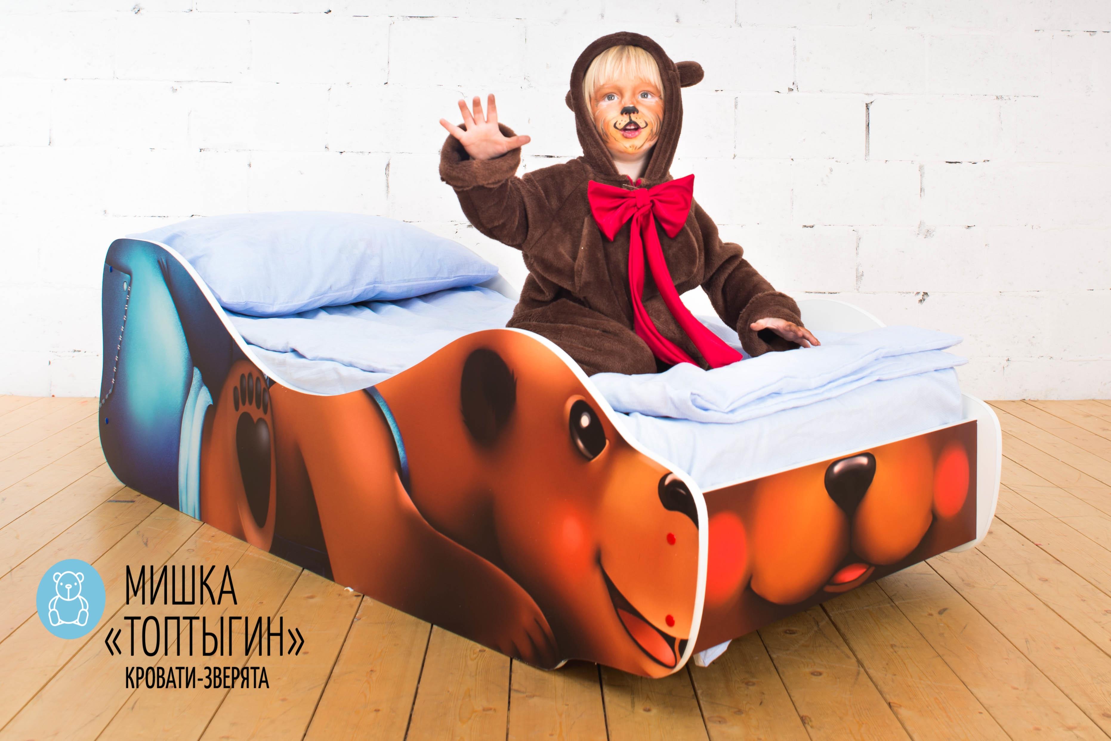 Детская кровать-зверенок -Мишка-Топтыгин-17