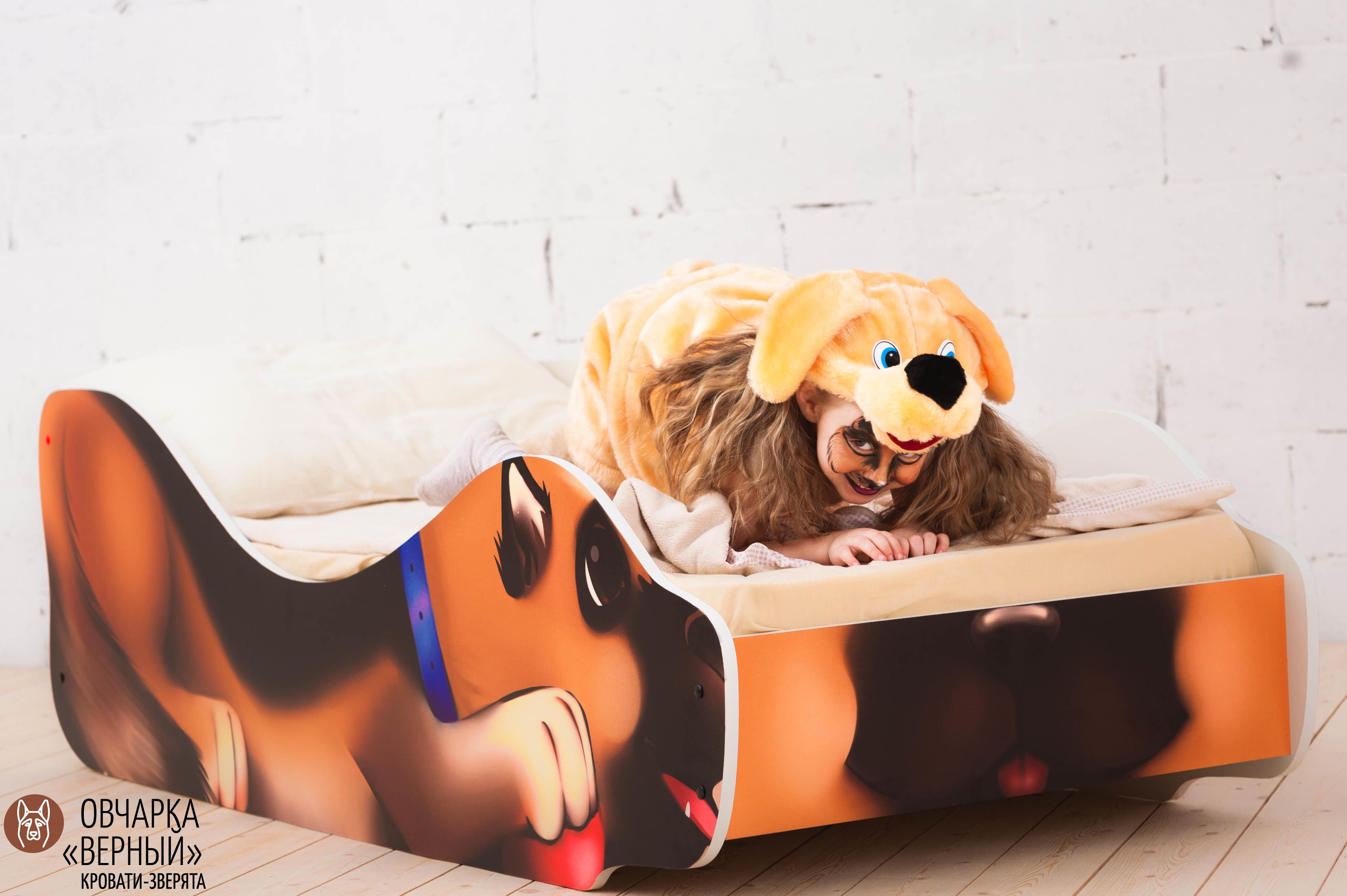 Детская кровать-зверенок -Овчарка-Верный-21