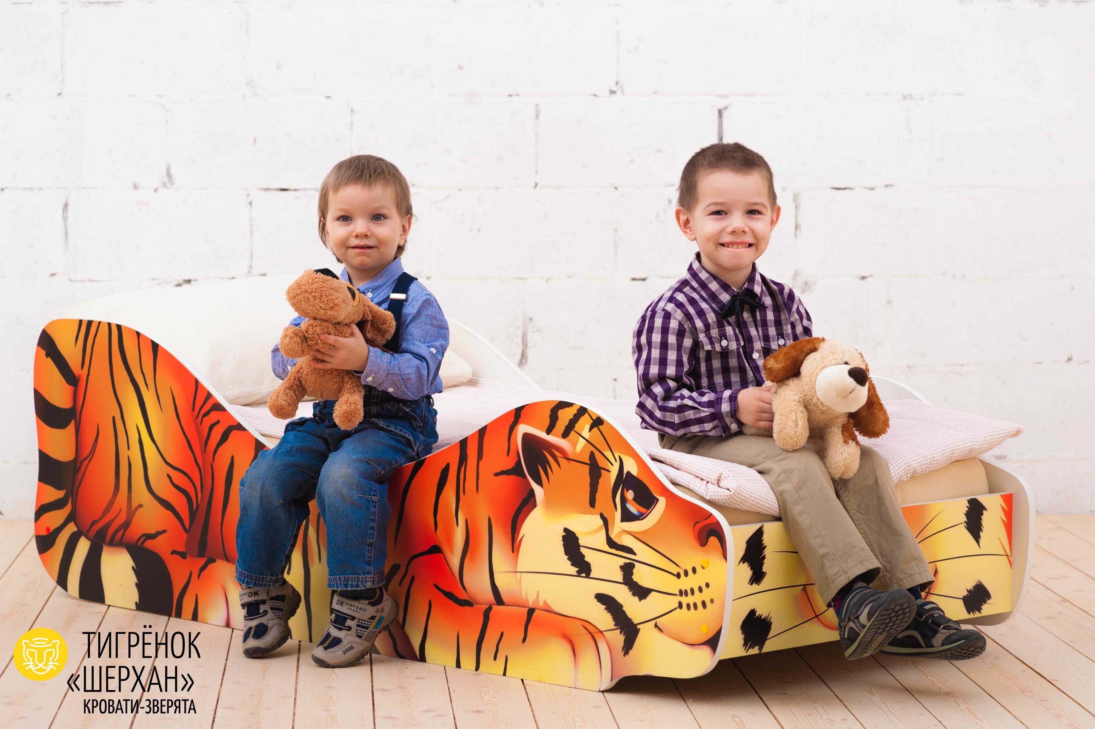 Детская кровать-зверенок -Тигренок-Шерхан-2