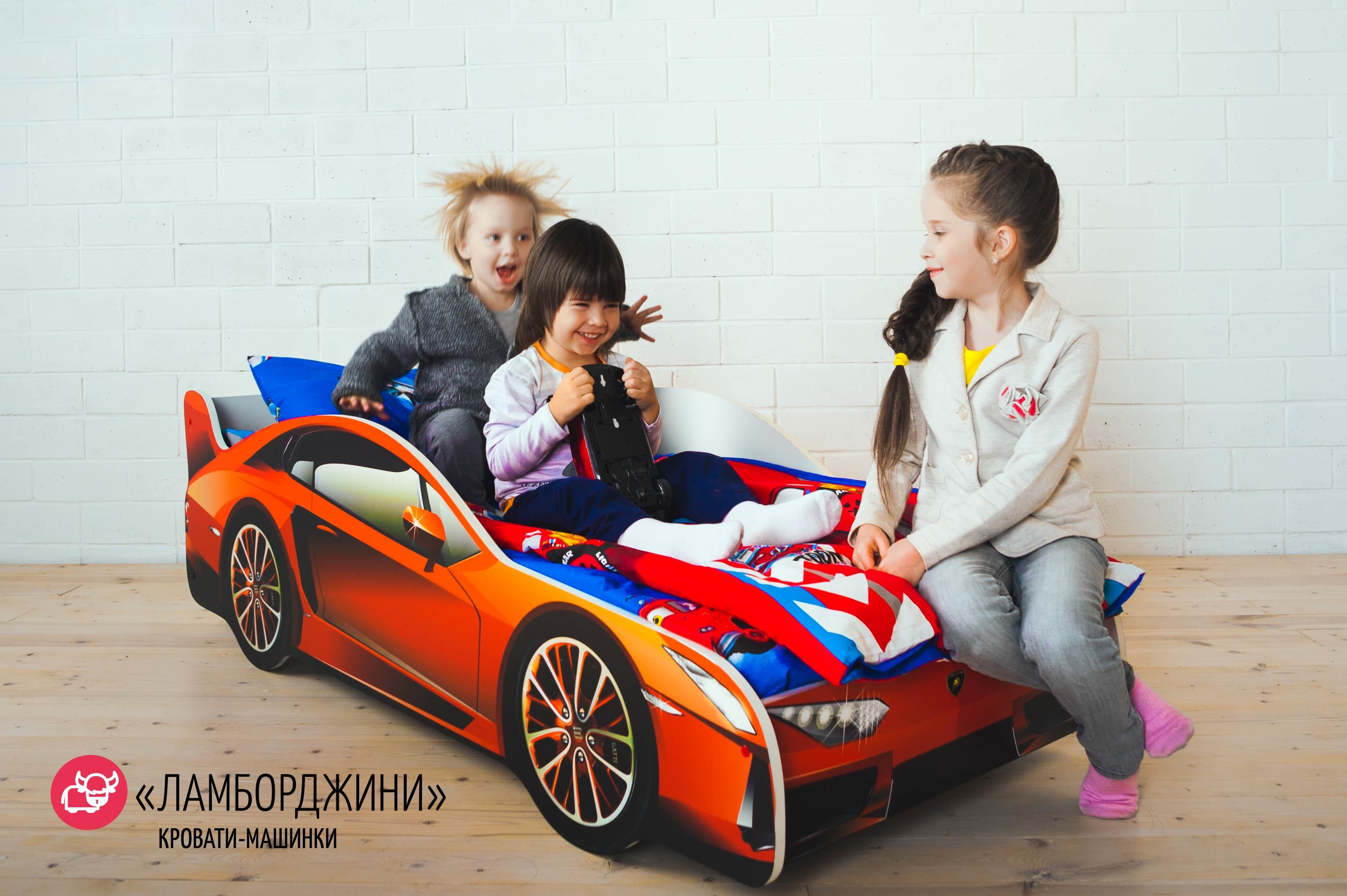 Детская кровать-машина -Ламборджини-5