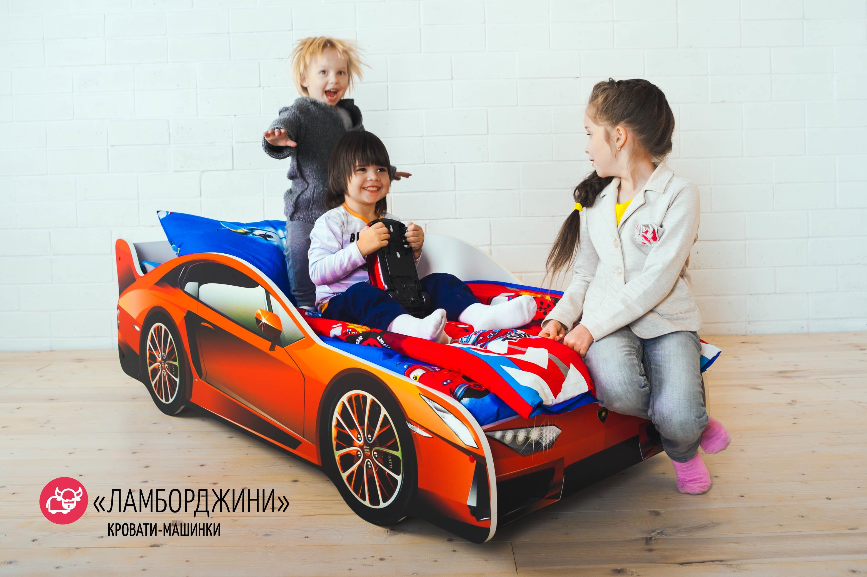 Детская кровать-машина -Ламборджини-6