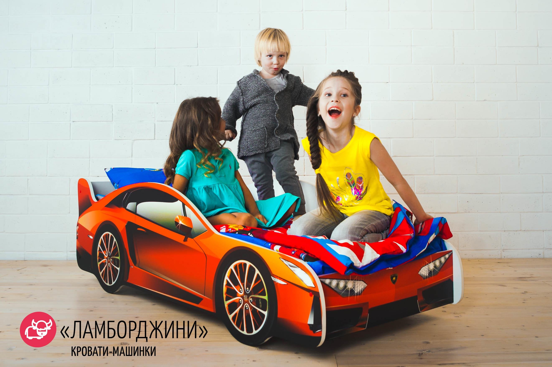 Детская кровать-машина -Ламборджини-8