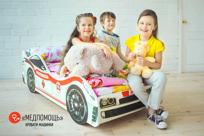 Детская кровать-машина -Медпомощь-3