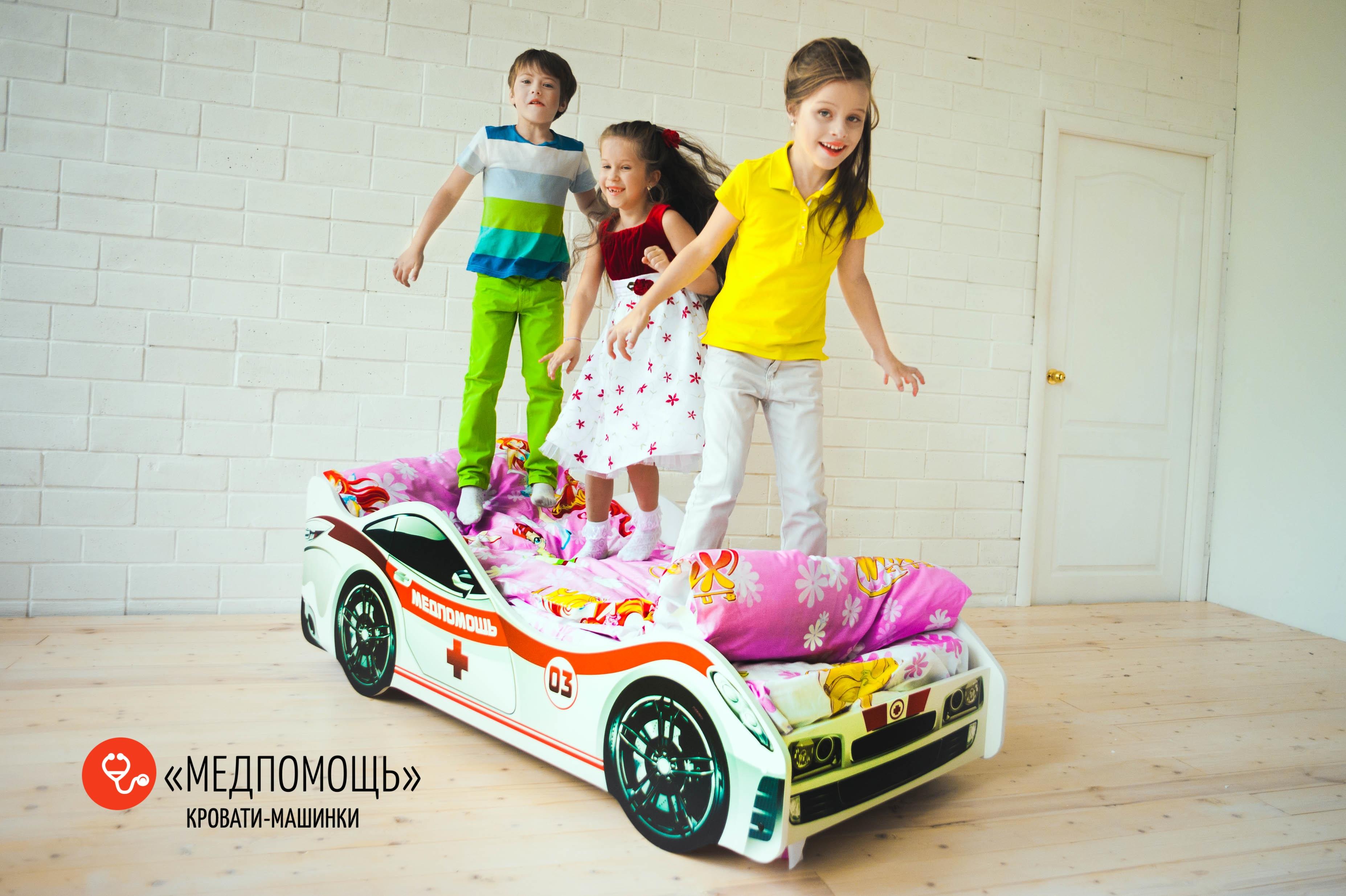 Детская кровать-машина -Медпомощь-5