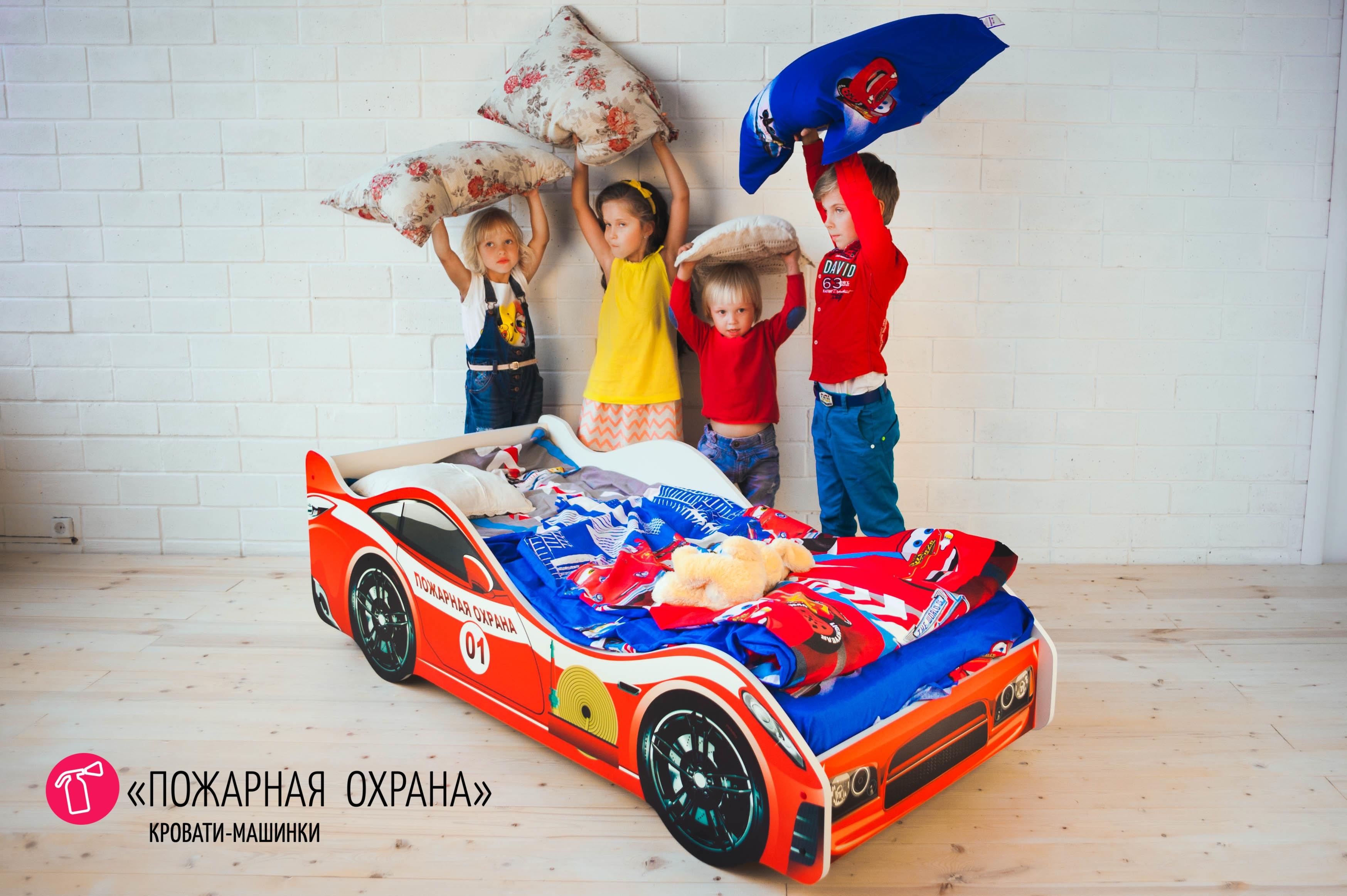 Детская кровать-машина -Пожарная охрана-4