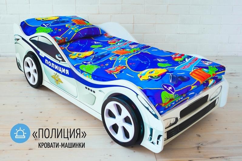 Детская кровать-машина -Полиция-2