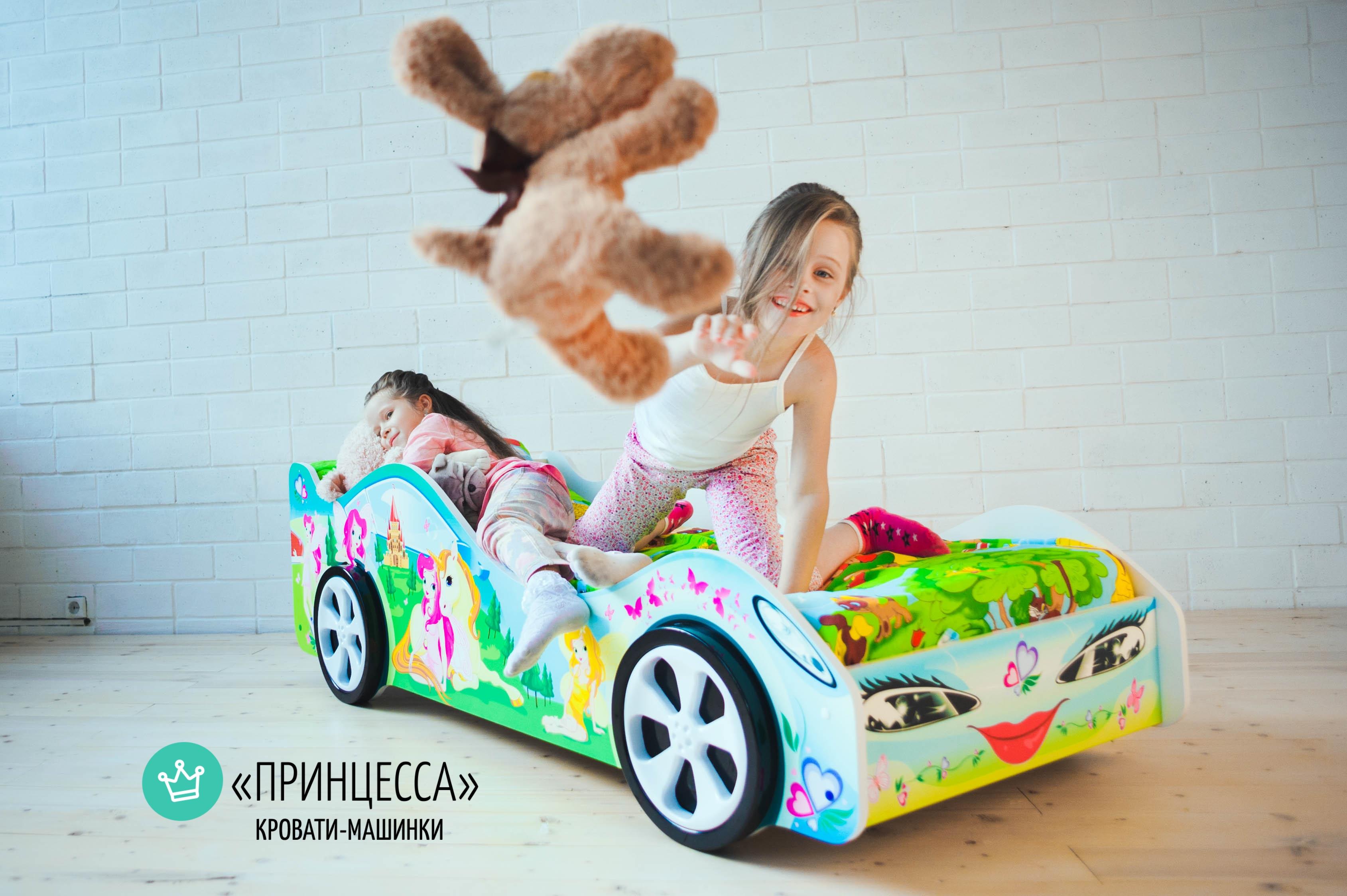 Детская кровать-машина -Принцесса-3