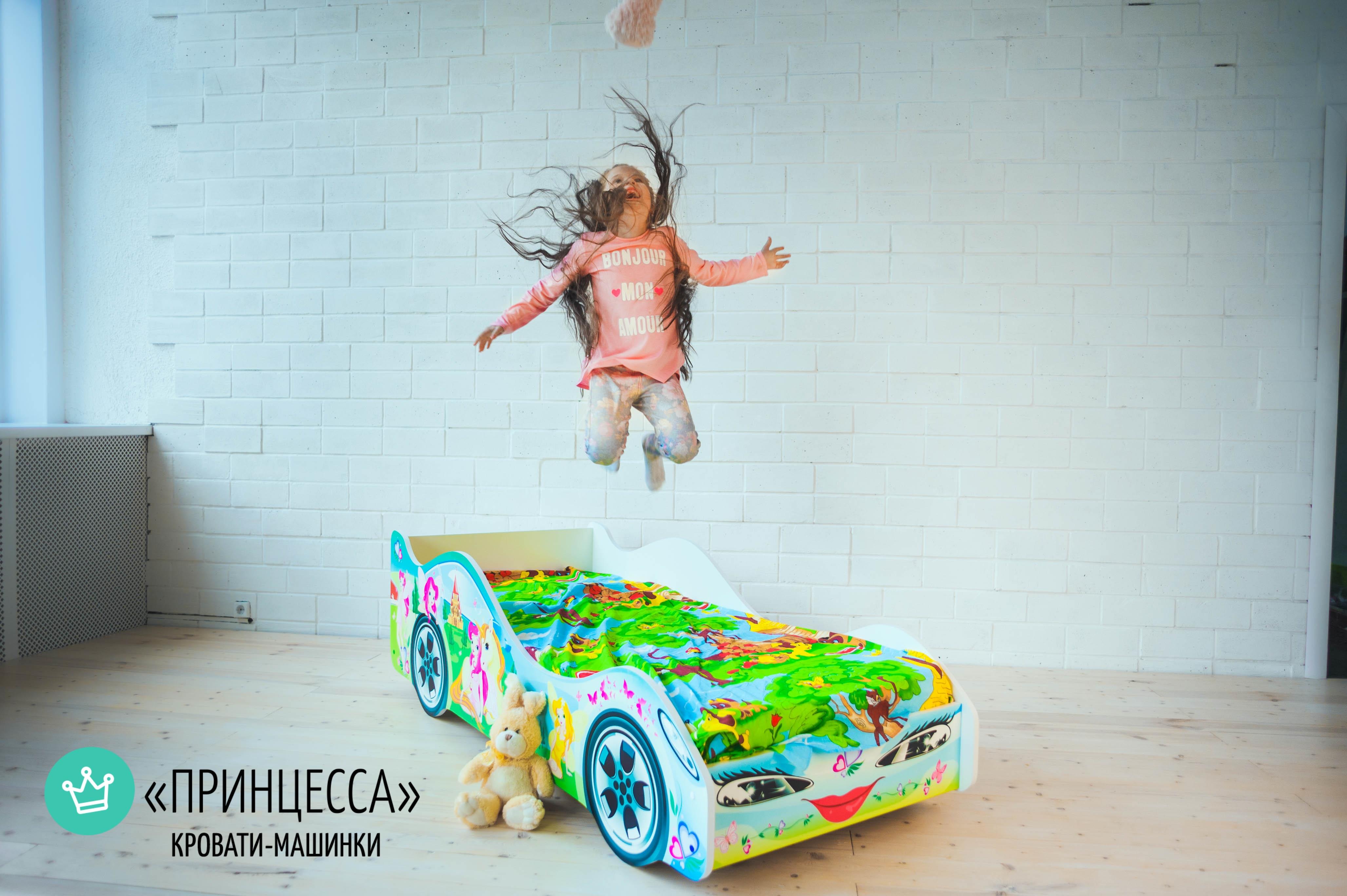 Детская кровать-машина -Принцесса-5