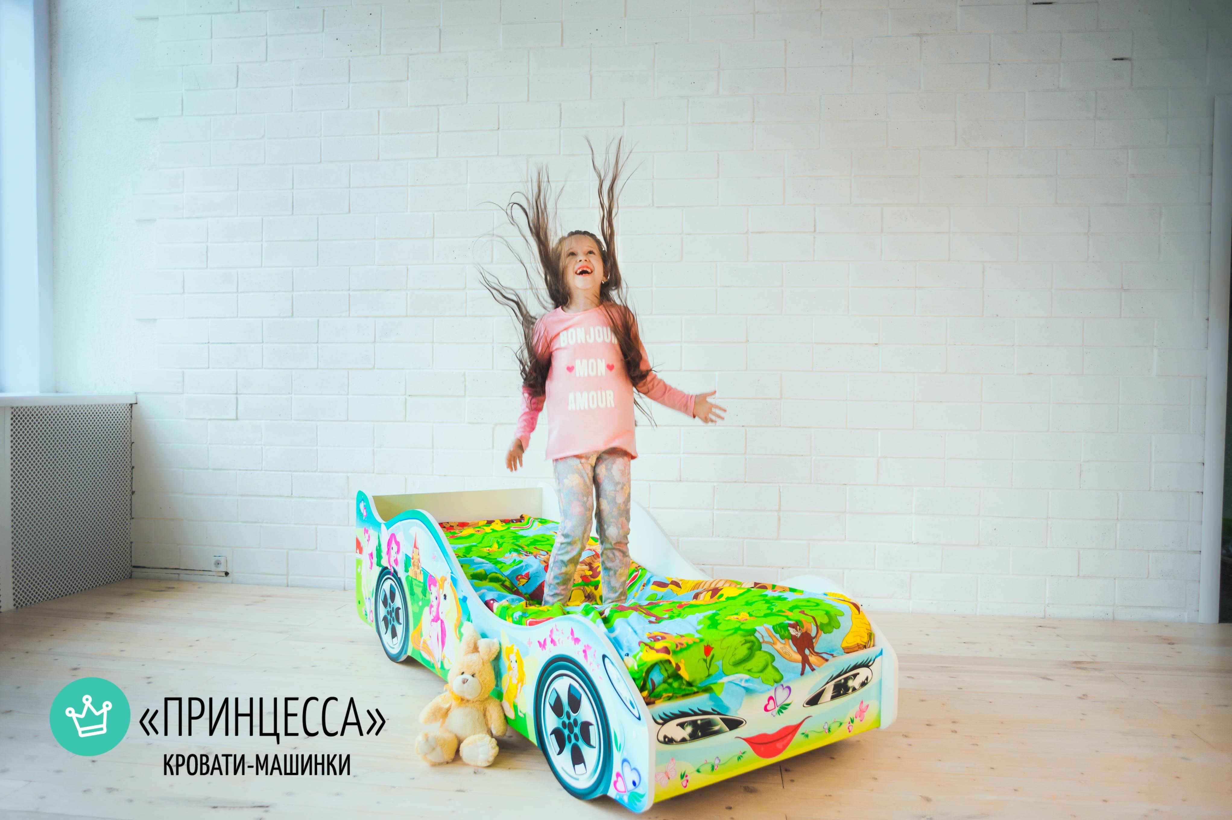 Детская кровать-машина -Принцесса-6