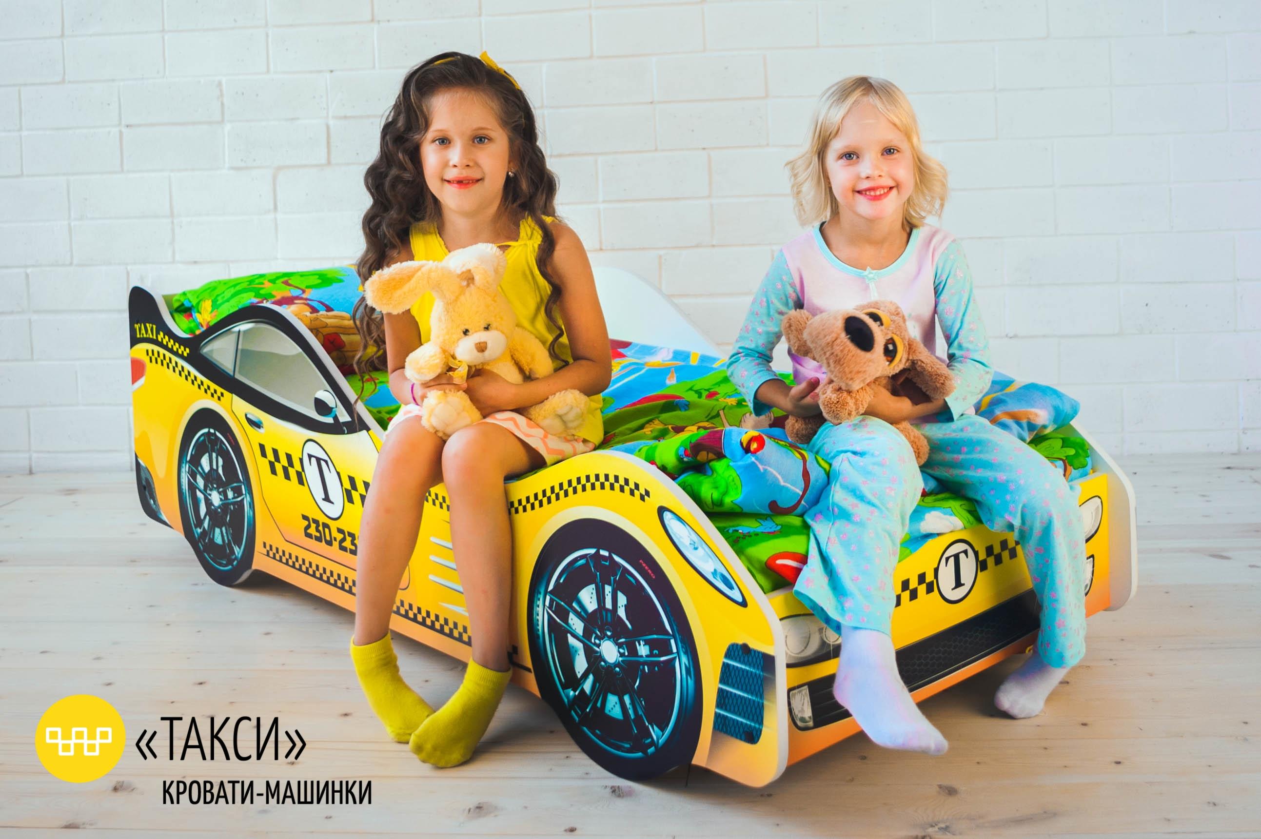 Детская кровать-машина -Такси-4