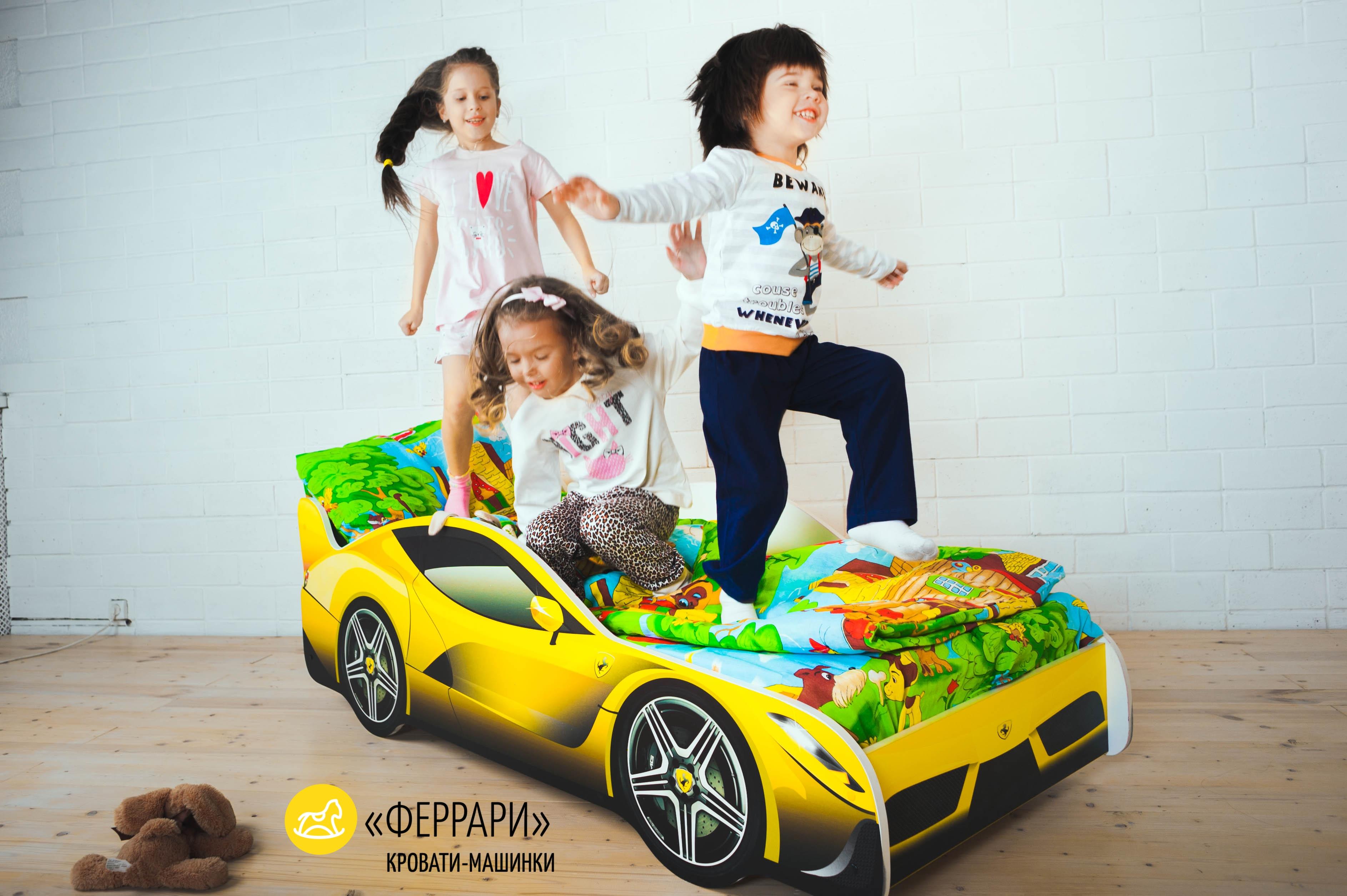 Детская кровать-машина -Феррари-10