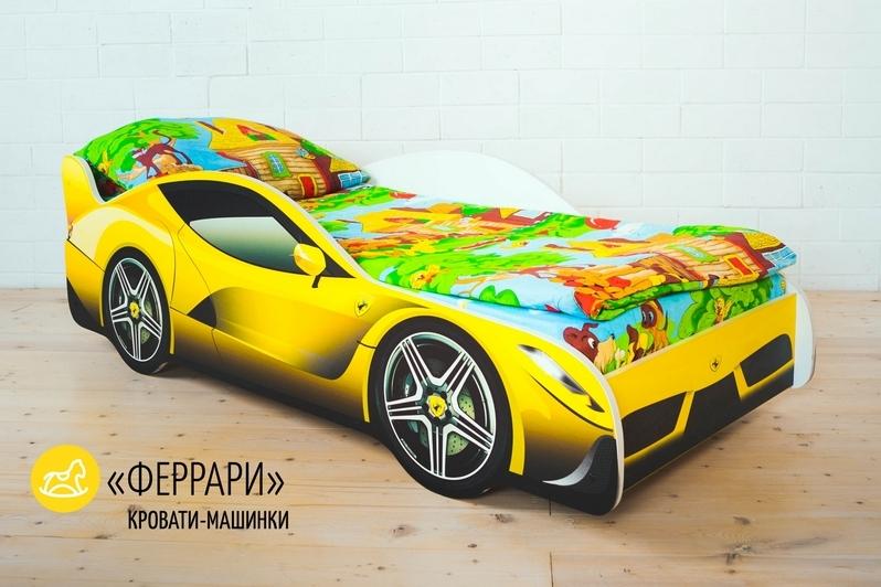 Детская кровать-машина -Феррари-2