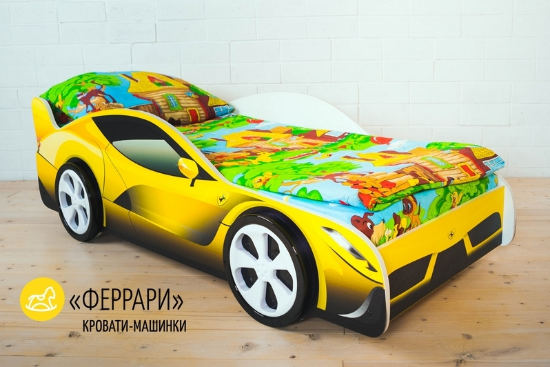 Детская кровать-машина -Феррари-3