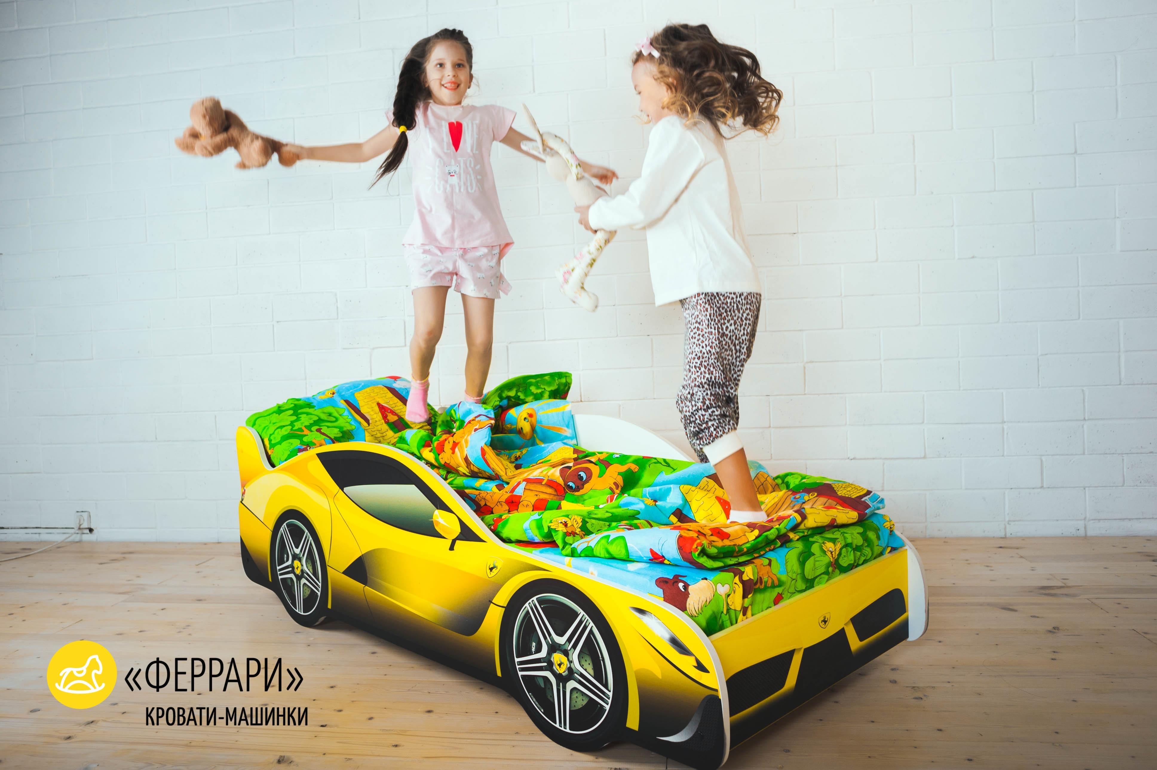 Детская кровать-машина -Феррари-9